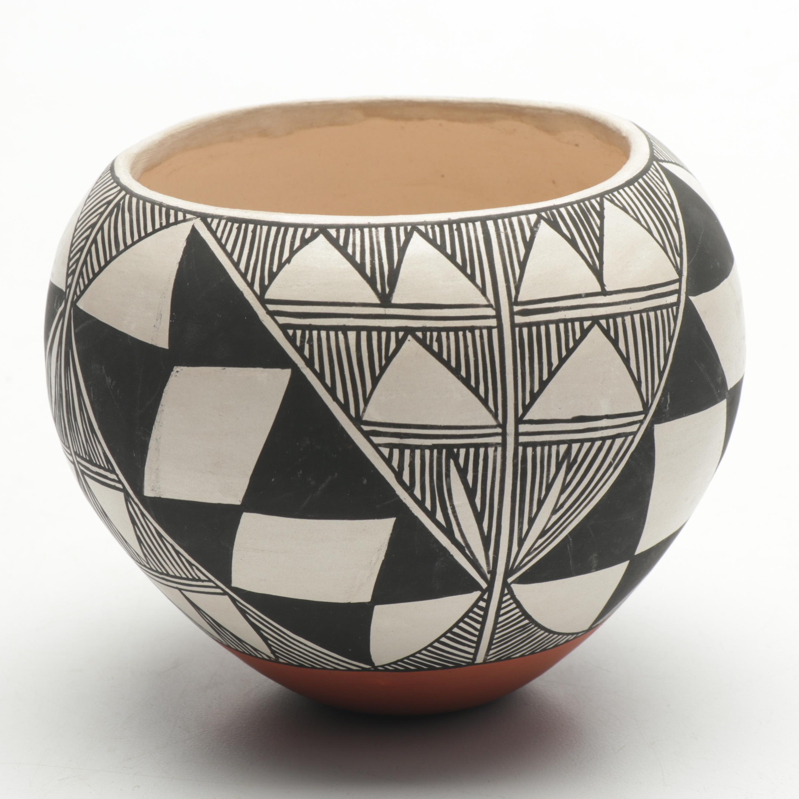A. Ramirez Acoma Hand-Painted Earthenware Vase
