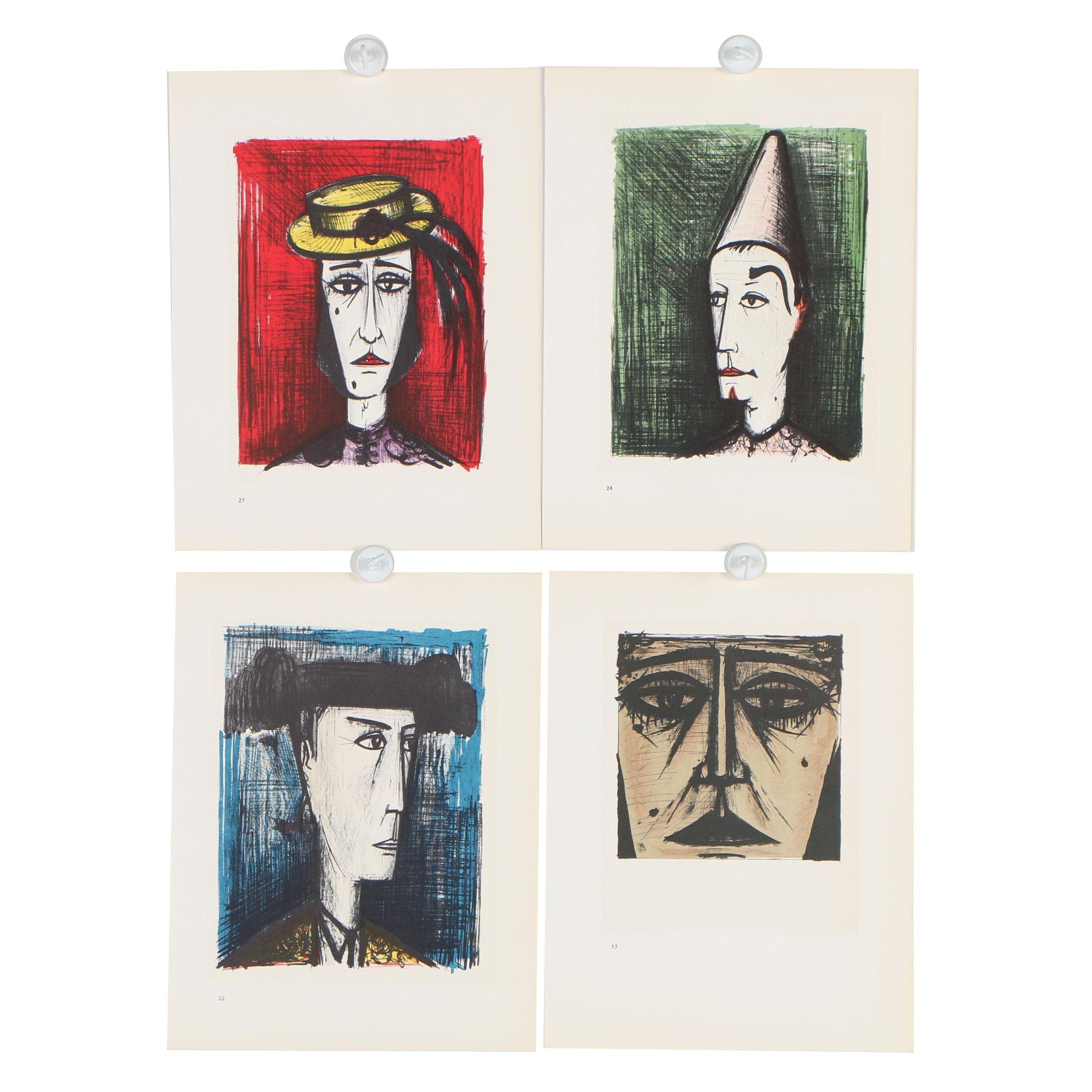 """Bernard Buffet Halftones Lithographs """"Bernard Buffet Lithographs 1952- 1966"""""""