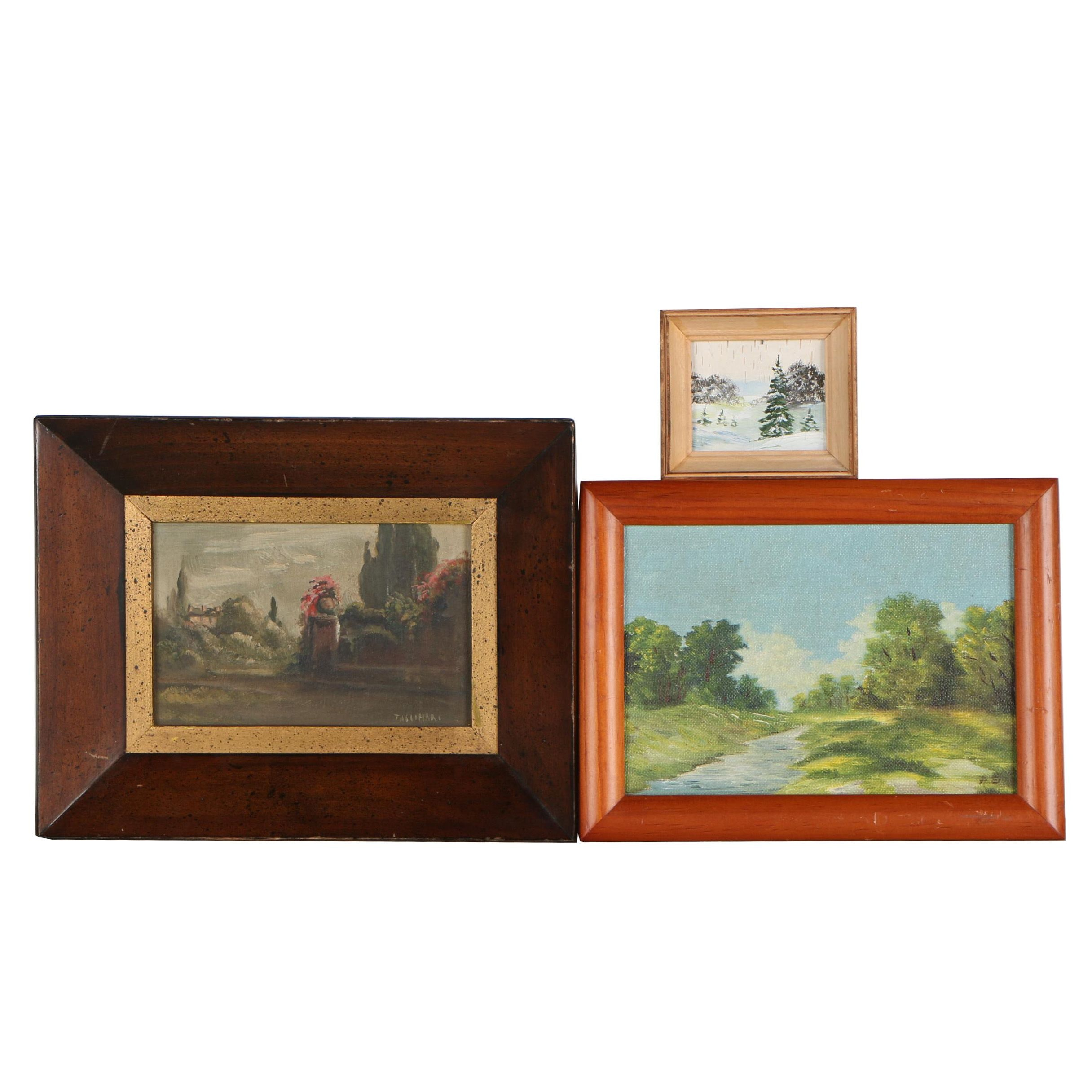 20th Century Landscape Oil Paintings Including by Tassinari