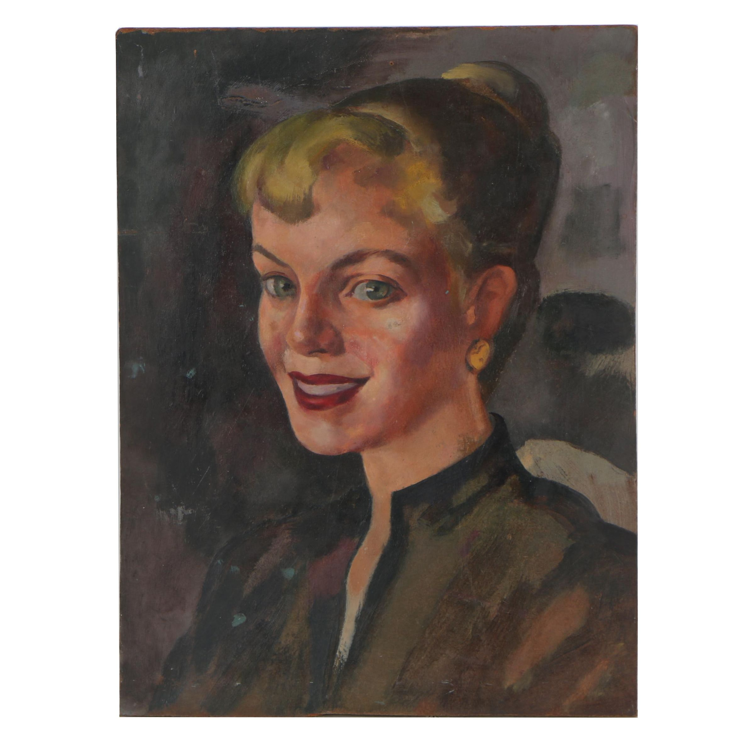 Cathal O'Toole Portrait Oil Painting, mid 20th Century