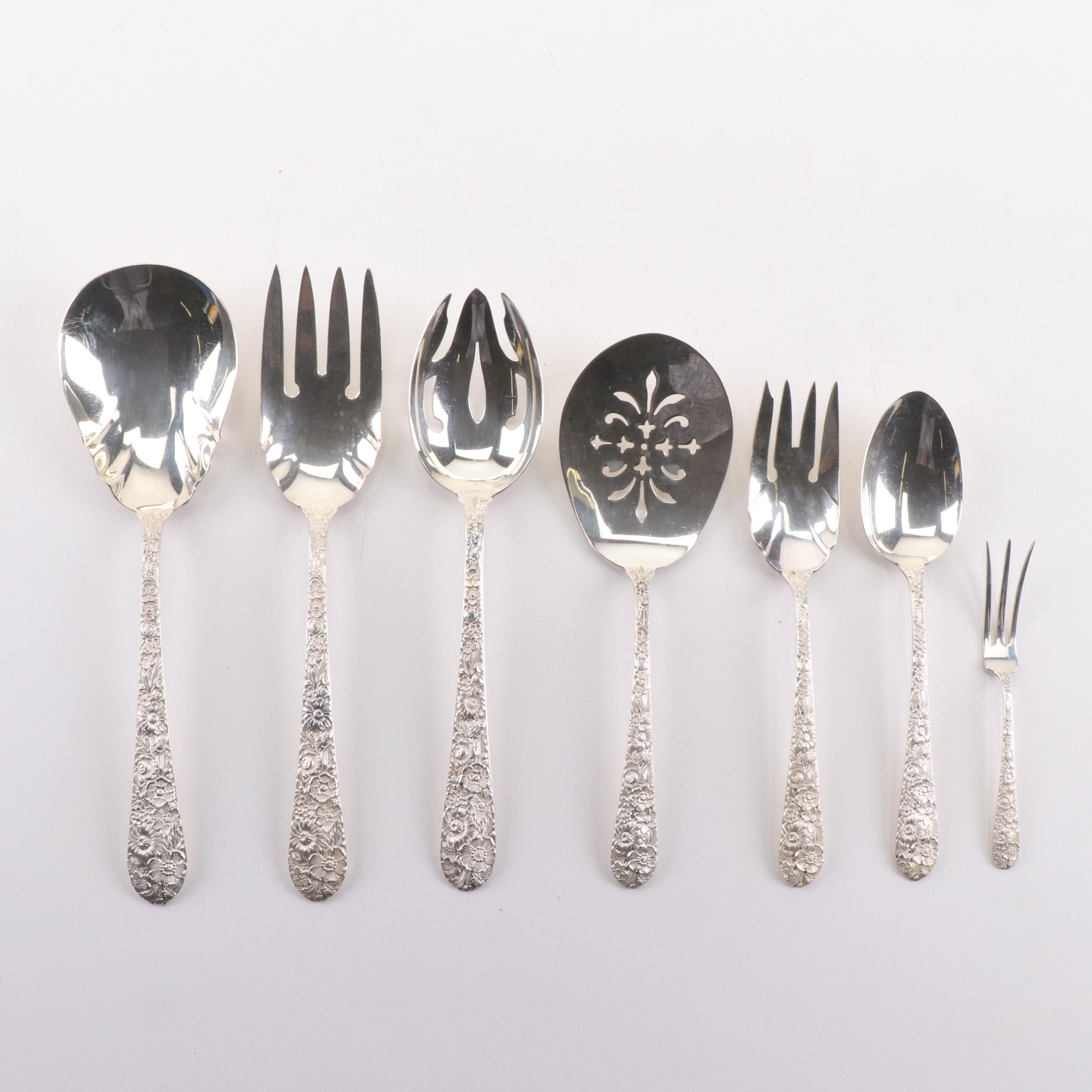 Sterling Silver Flatware Alvin Bridal Bouquet Regular Fork