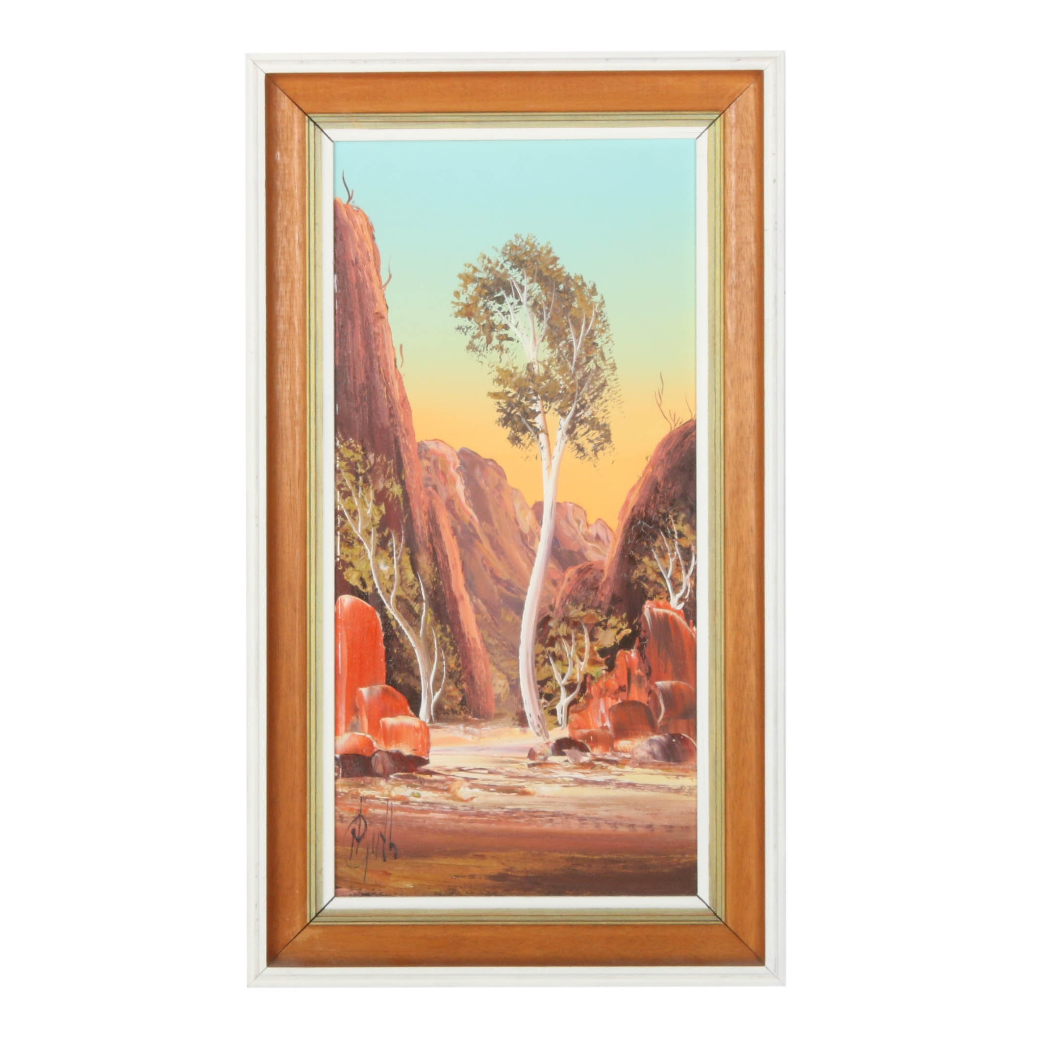 Late 20th Century Desert Landscape Oil Painting