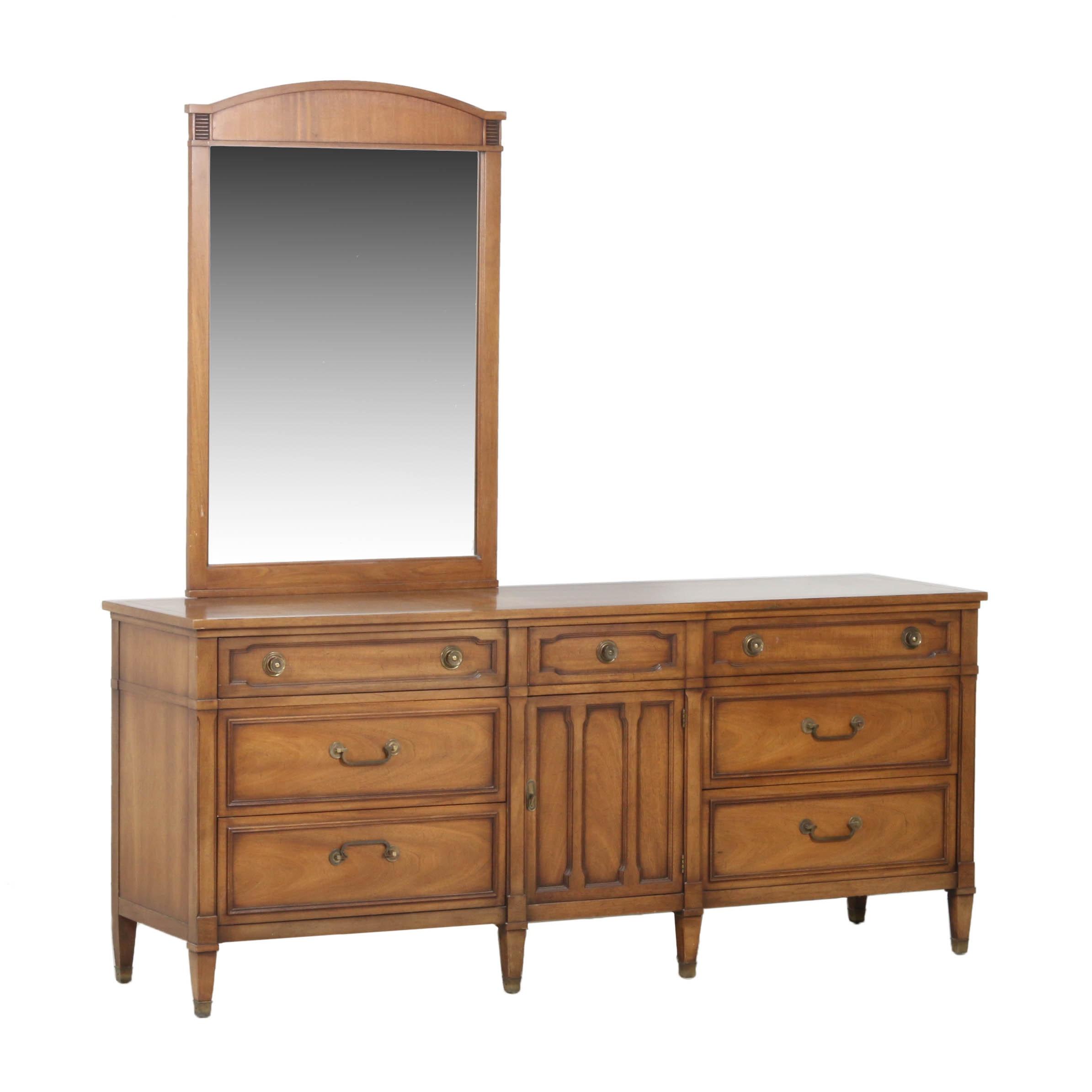 """Vintage Drexel """"Triune"""" Dresser with Mirror"""