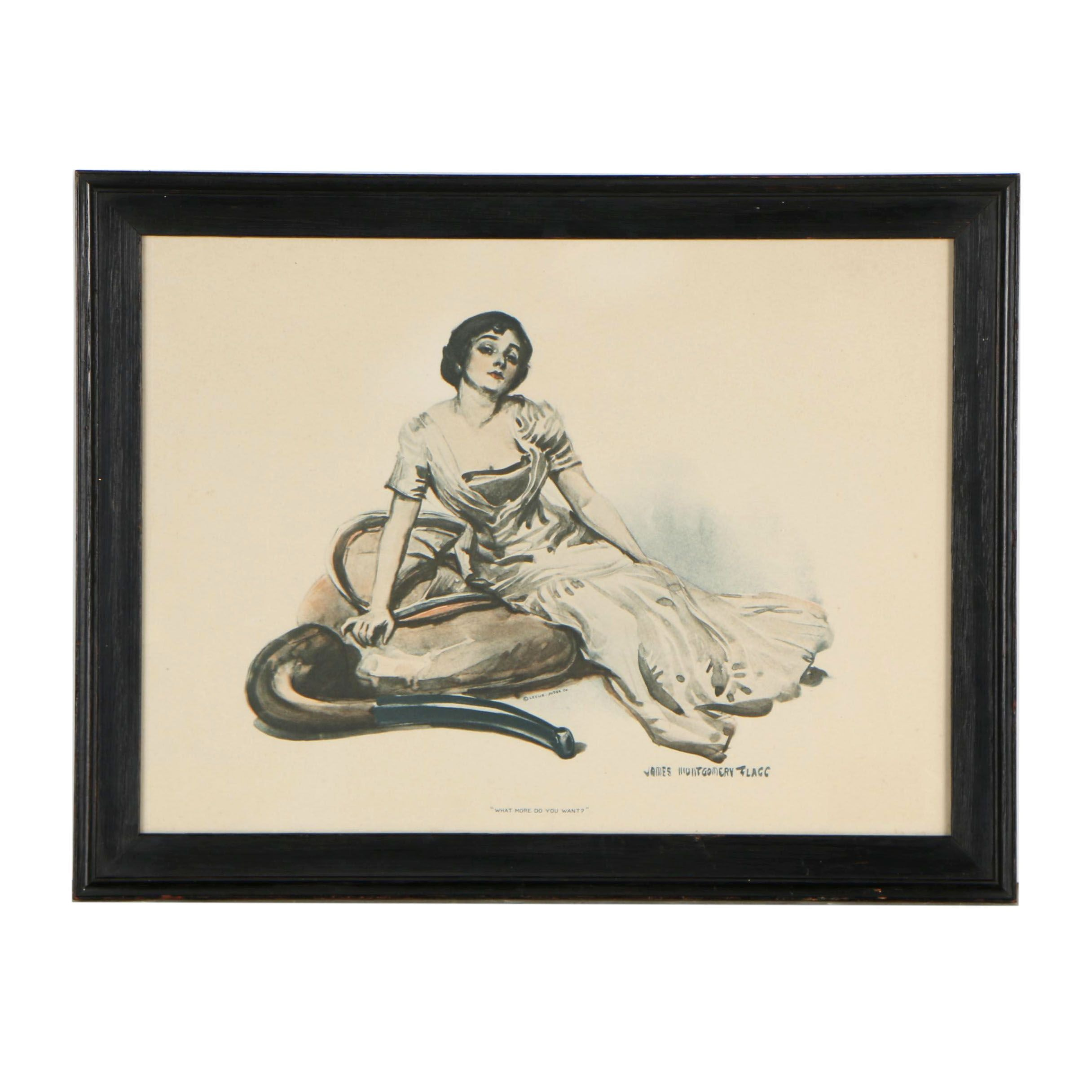 """Rotogravure after James Montgomery Flagg """"What More do You Want?"""""""
