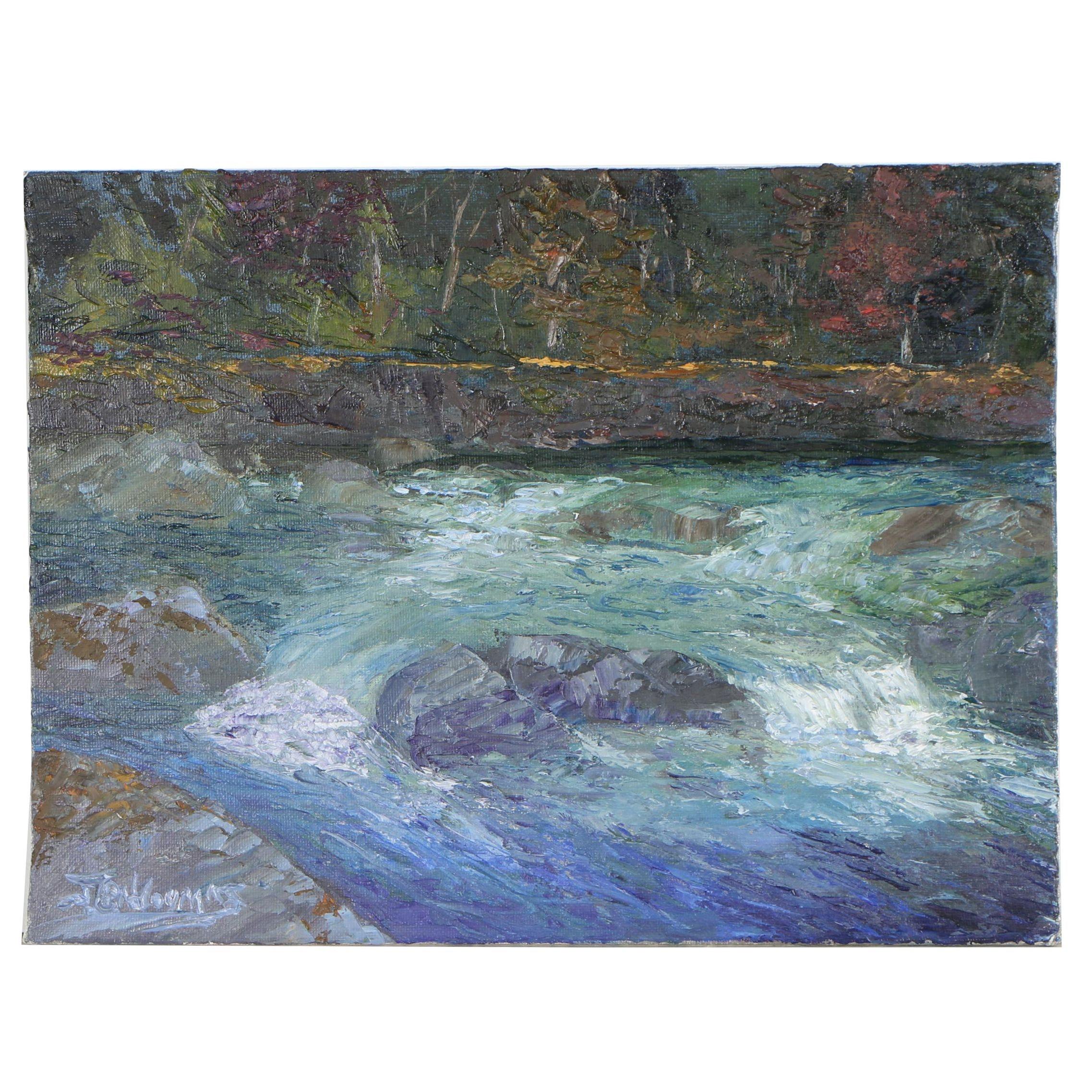 """James Baldoumas Oil Painting """"Cascade"""""""