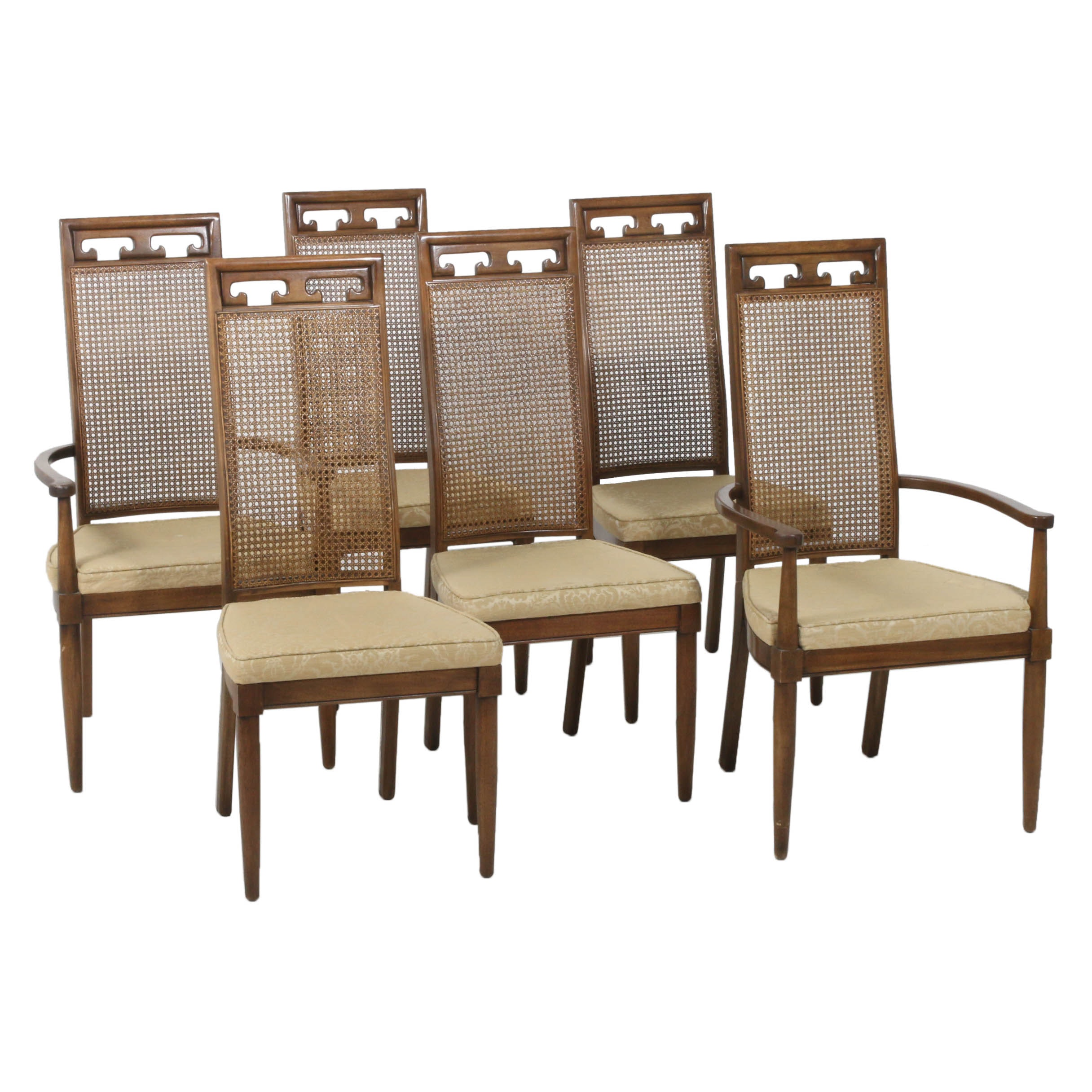Century Furniture Cane Back Dining Chairs