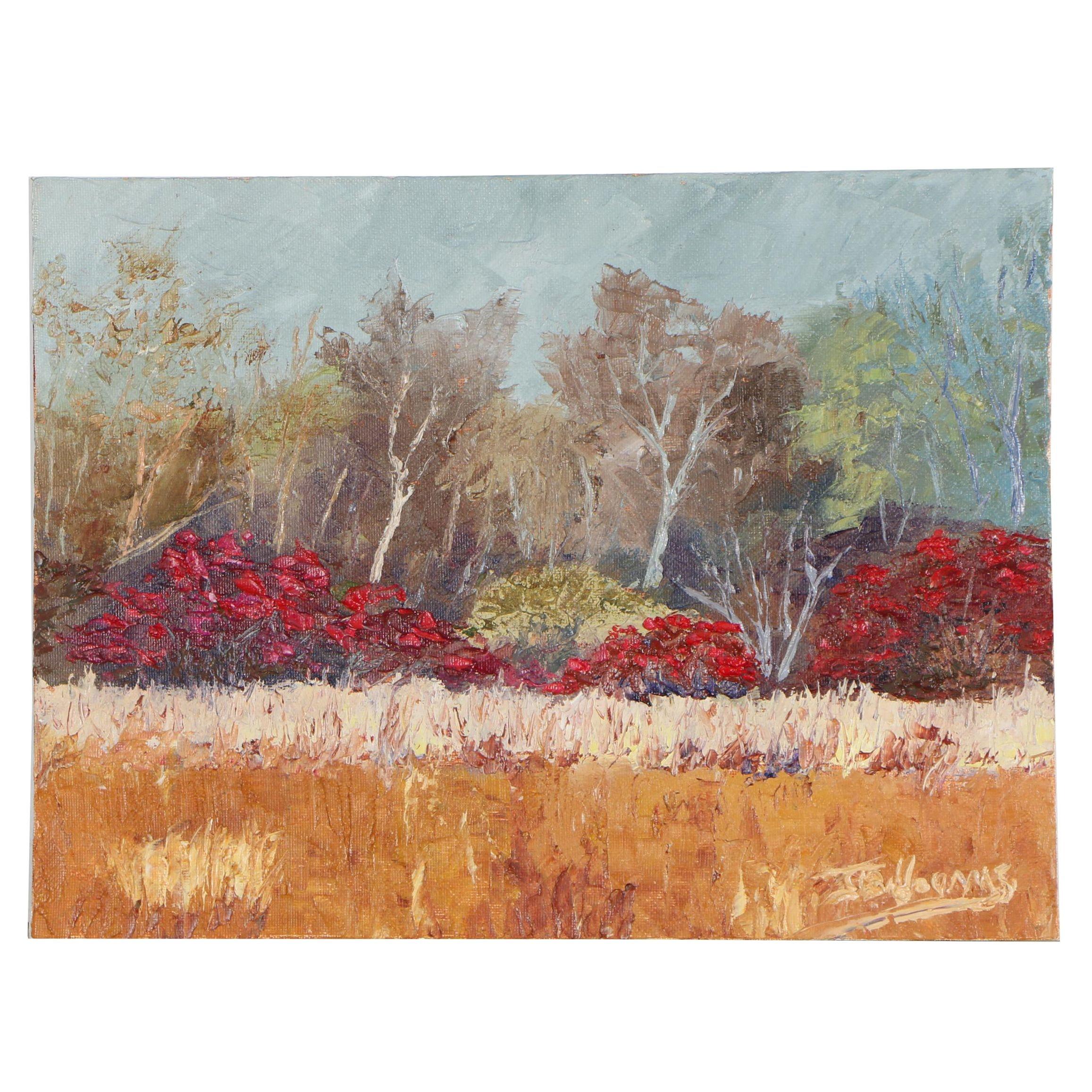 """James Baldoumas Oil Painting """"Winterberry"""""""