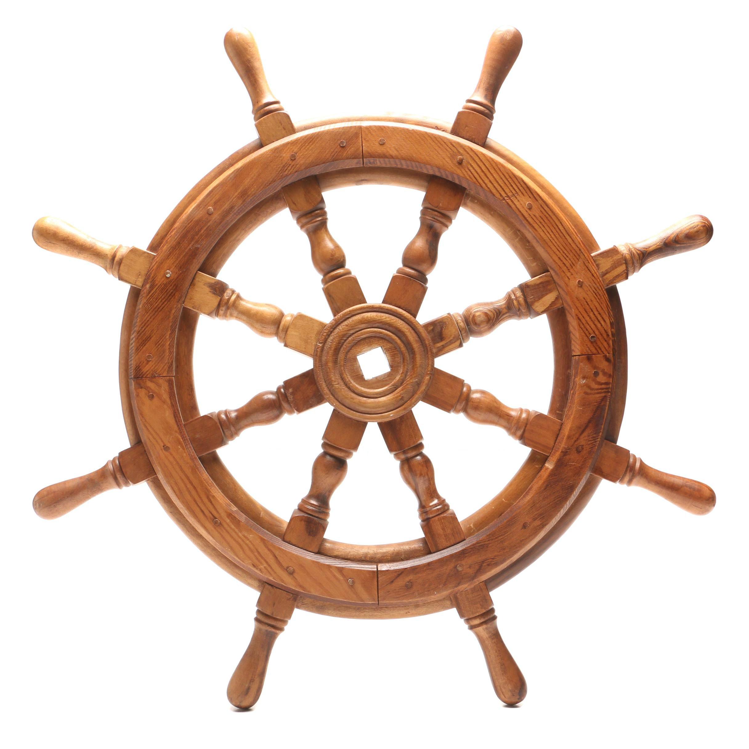 Decorative Oak Ship's Wheel