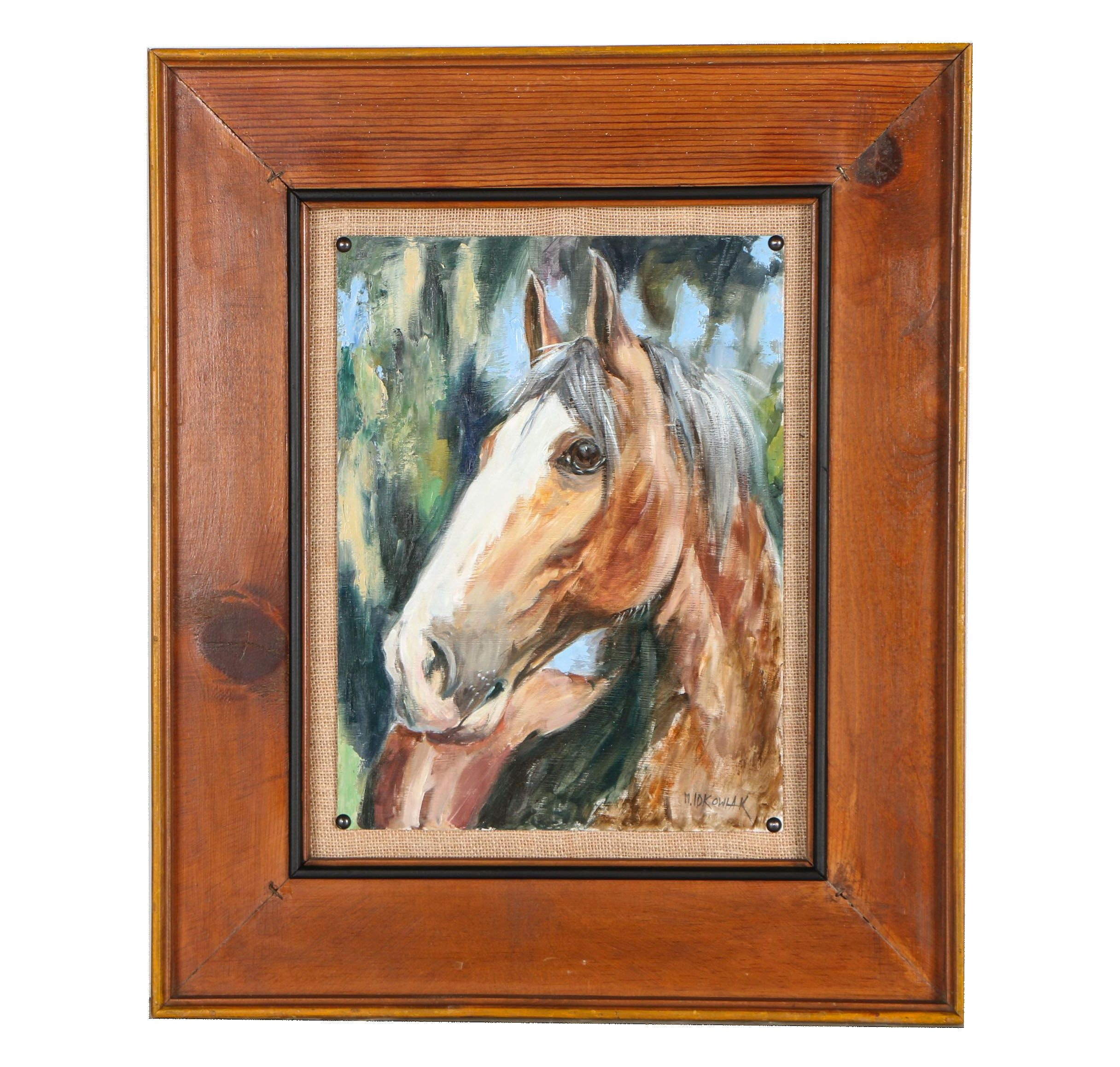 Mario Idkowiak Oil Painting of Horse