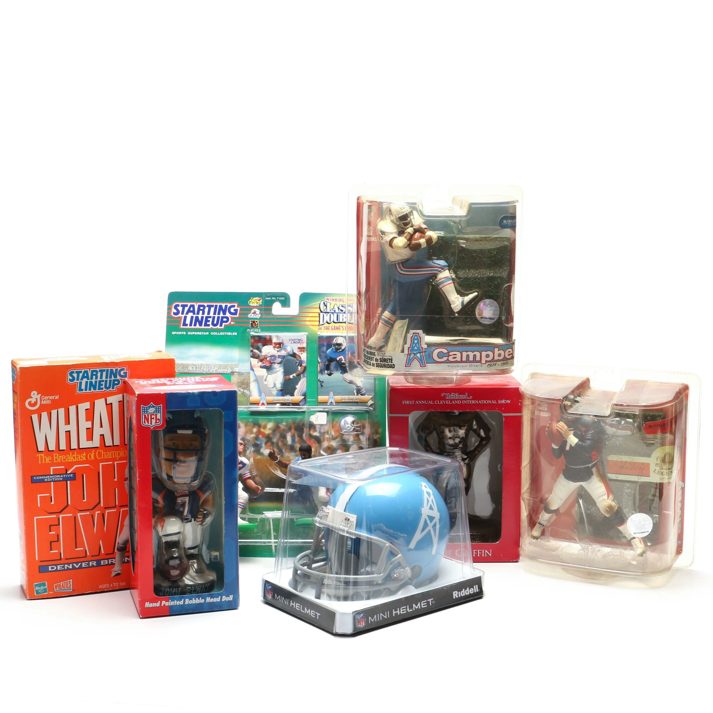 John Elway, Earl Campbell, Archie Griffin Football Figures and More
