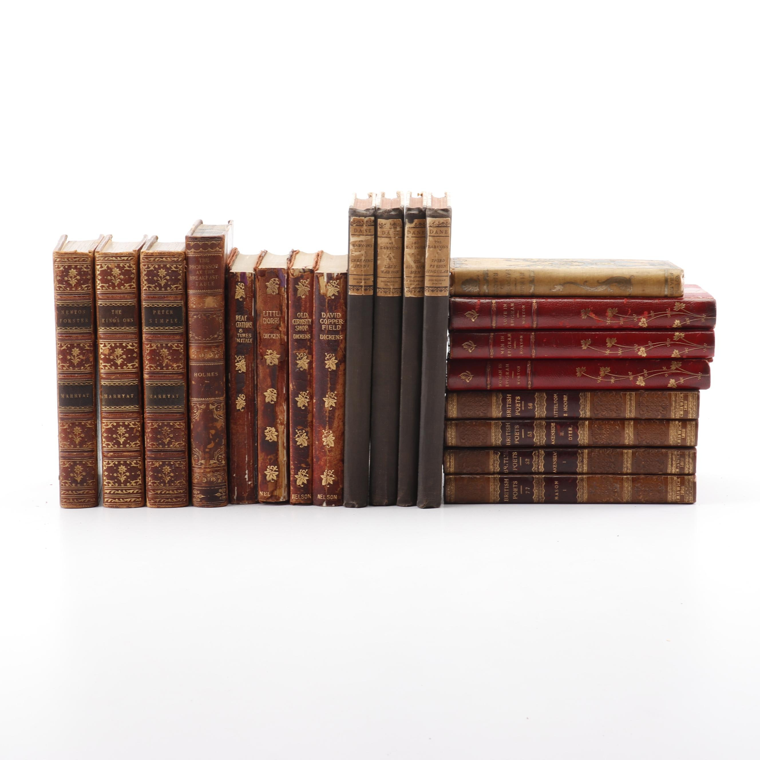 """The Work of Charles Dickens"" and Other Vintage Books"