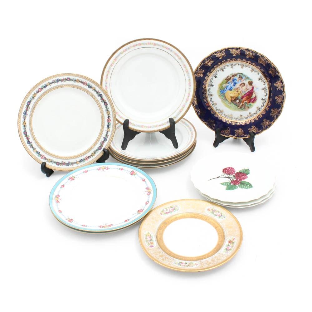 European Porcelain Plates with Limoges