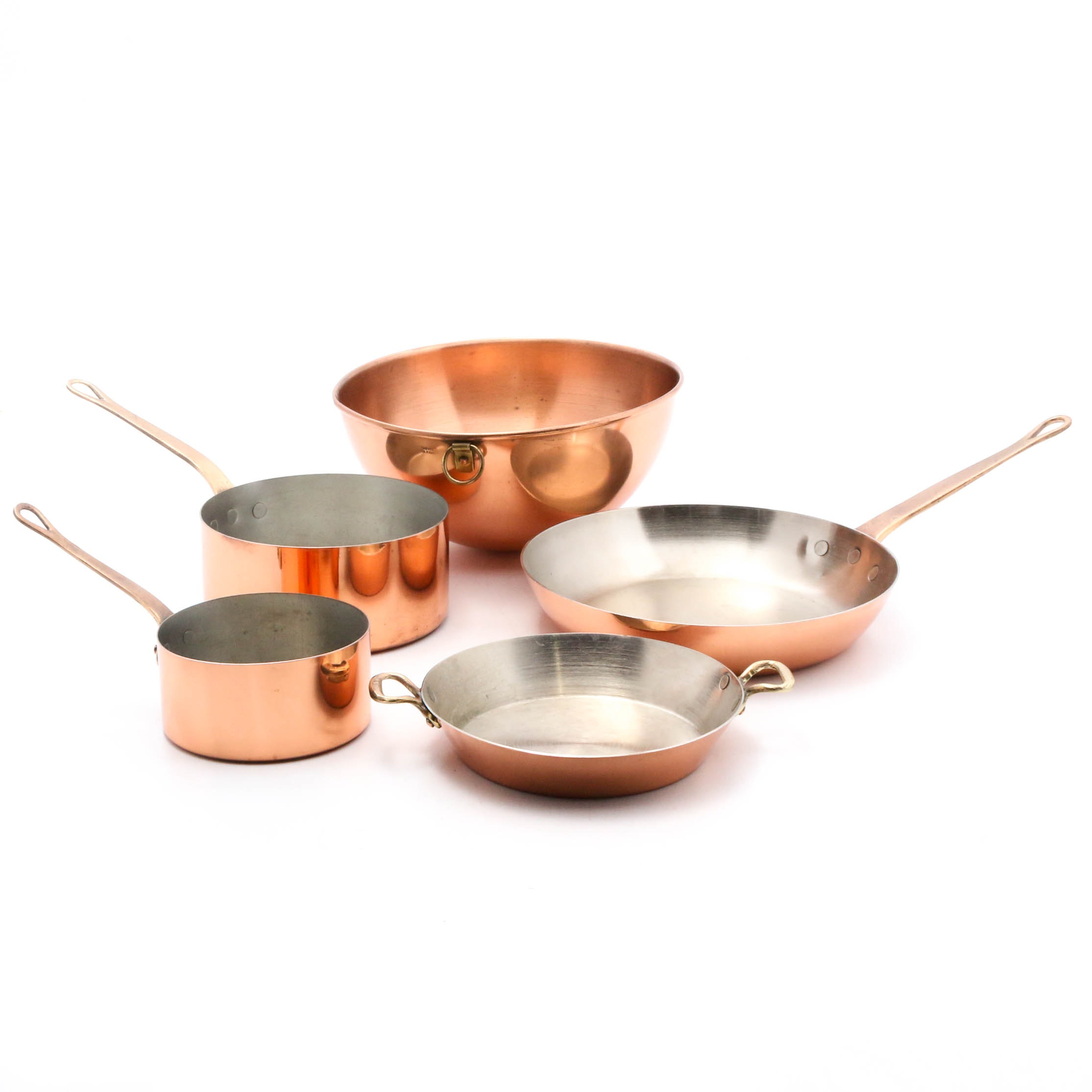 Metaux Ouvres-Vesoul Copper-Clad Cookware, Made in France