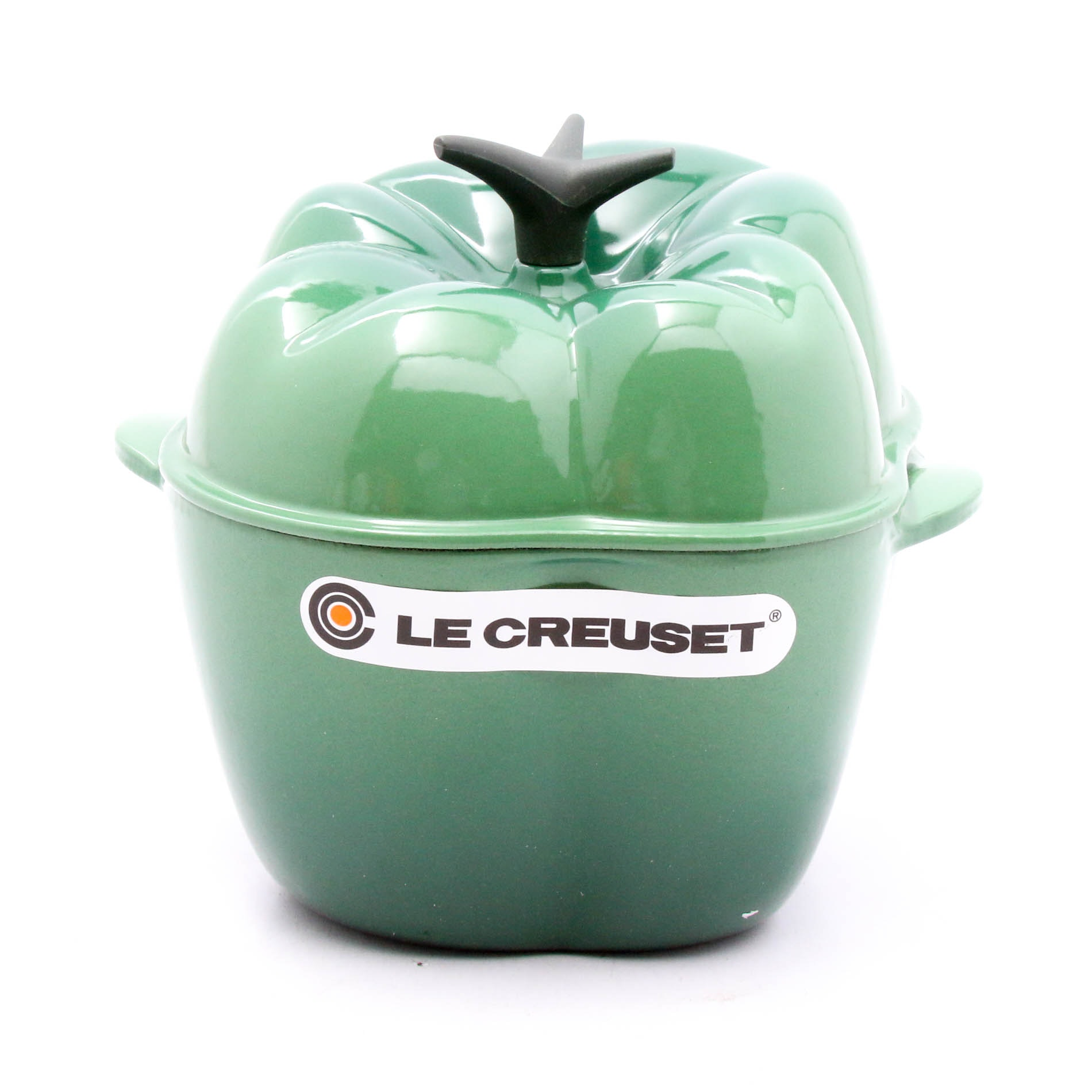 "Le Creuset Enameled Cast Iron Bell Pepper Cocotte in ""Jade"", Made in France"