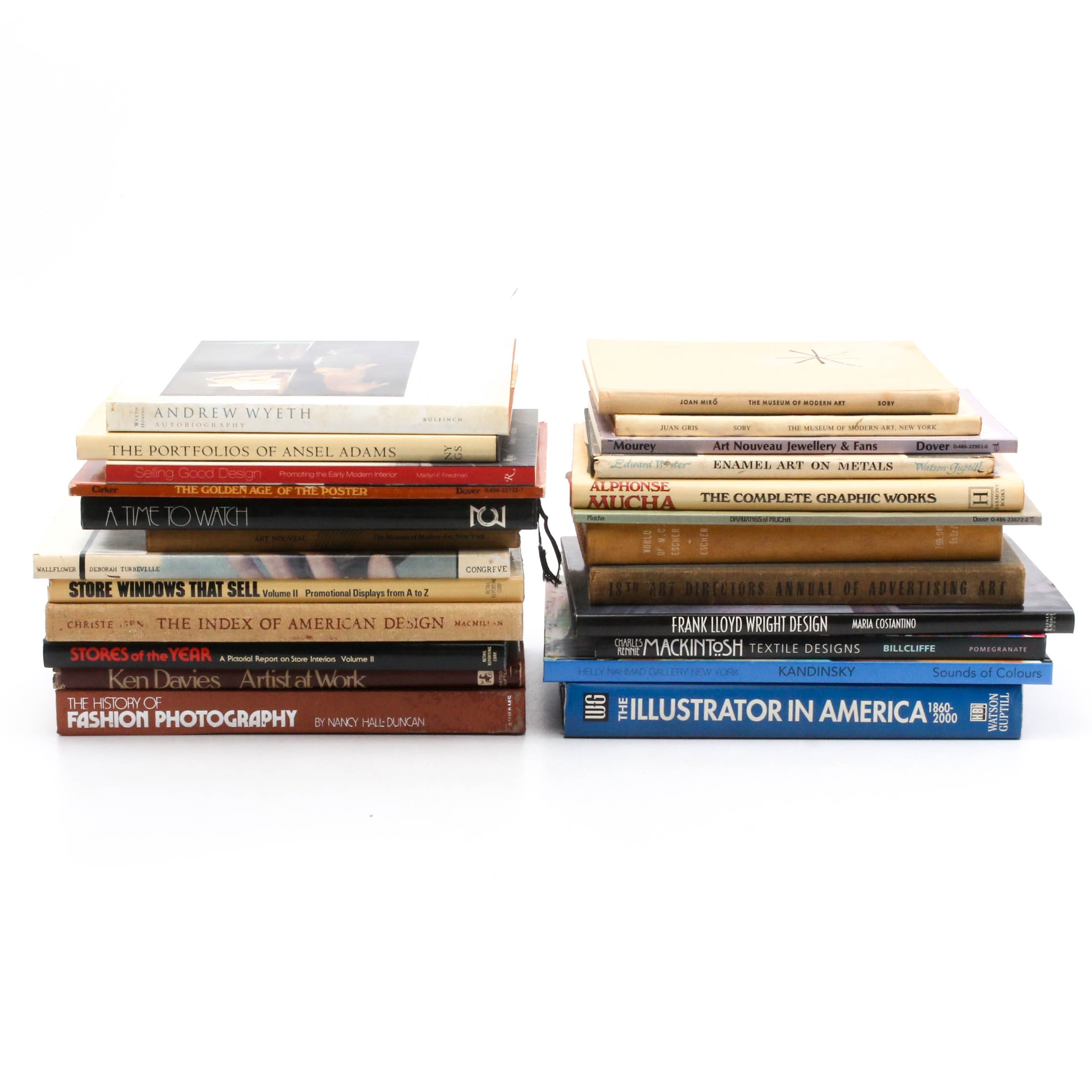Art and Design Coffee Table Books, Vintage and Contemporary