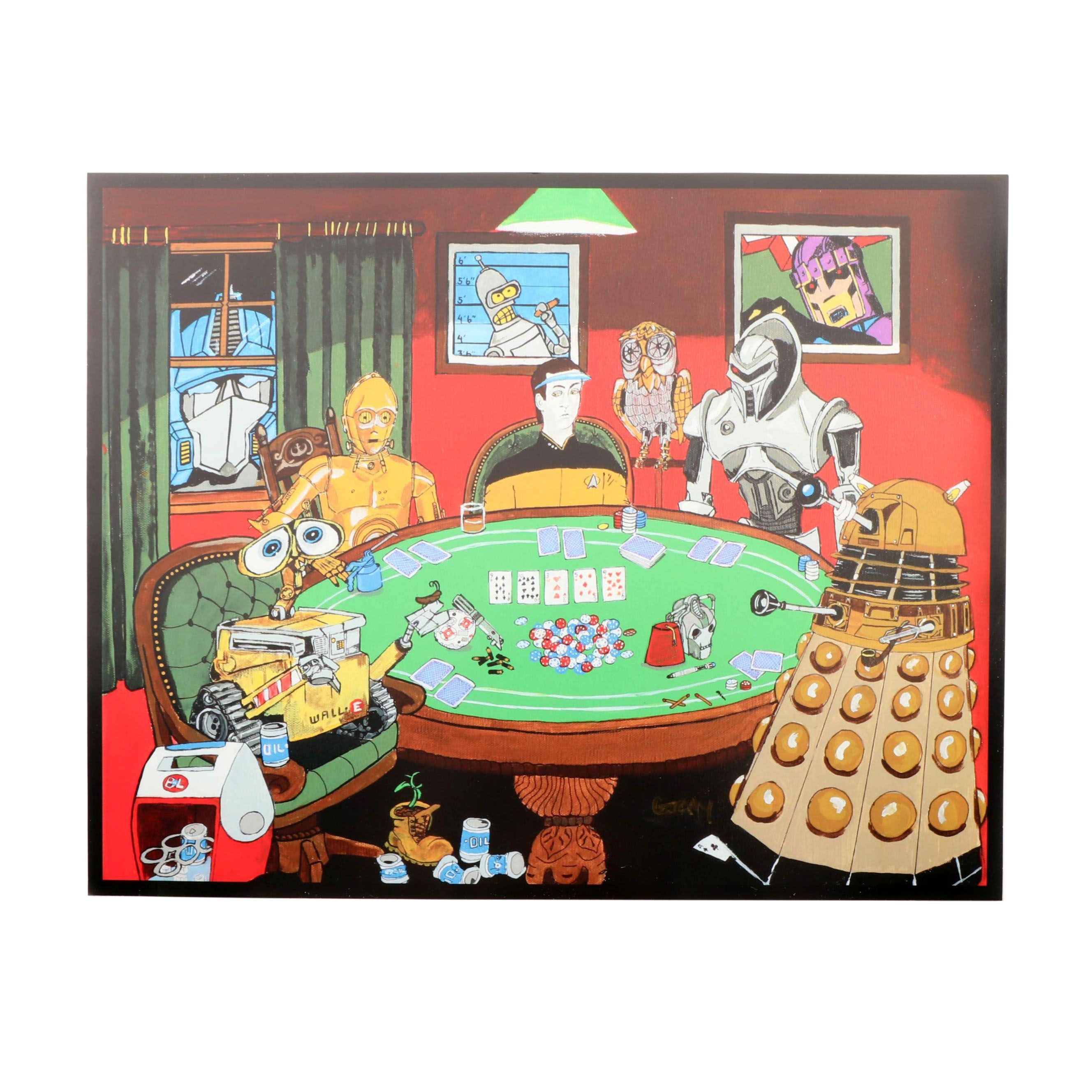 Reproduction Print of SyFy Poker Game