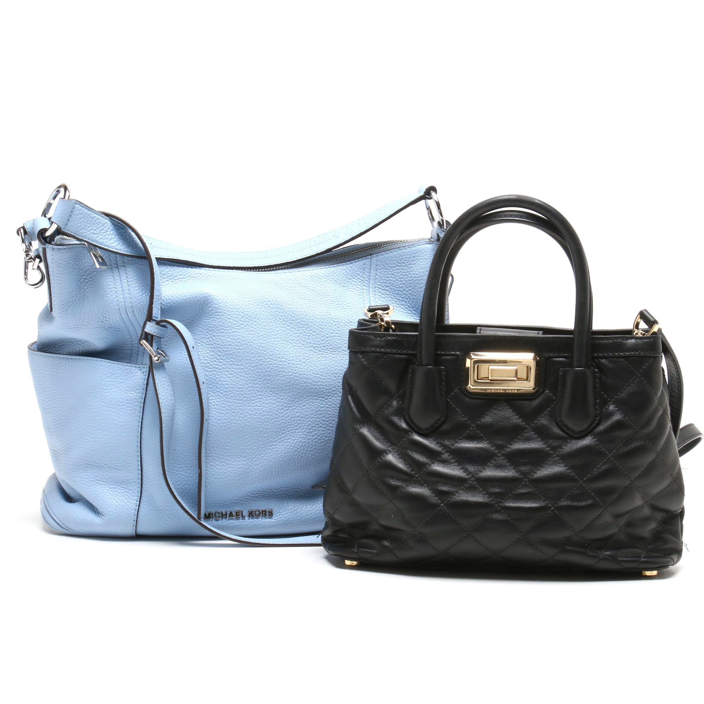 MICHAEL Michael Kors Anita Convertible Bag and Small Hannah Quilted Satchel