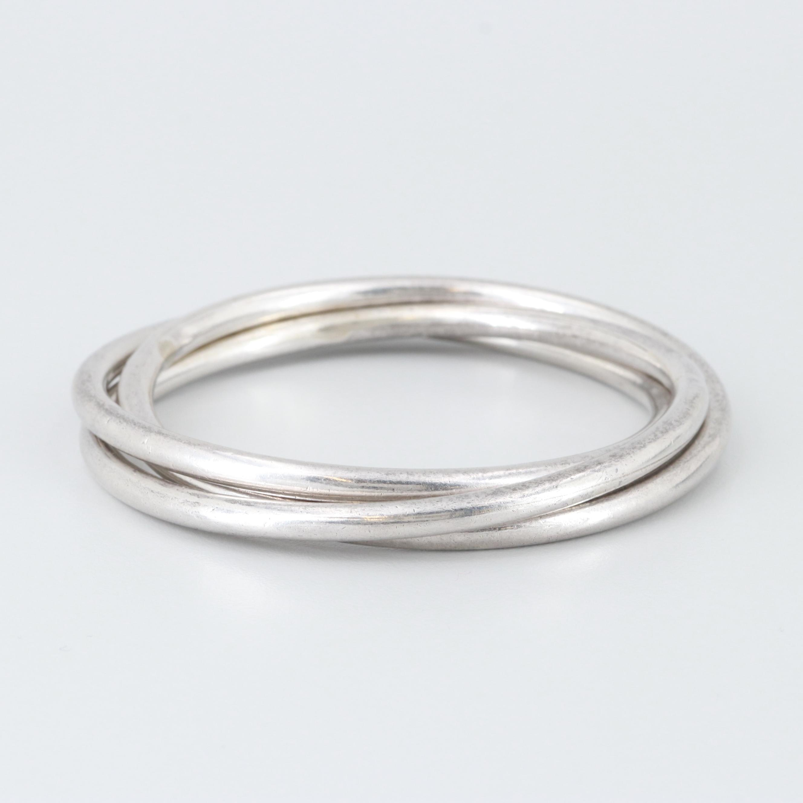 Mexican Sterling Silver Multi-Band Bracelet