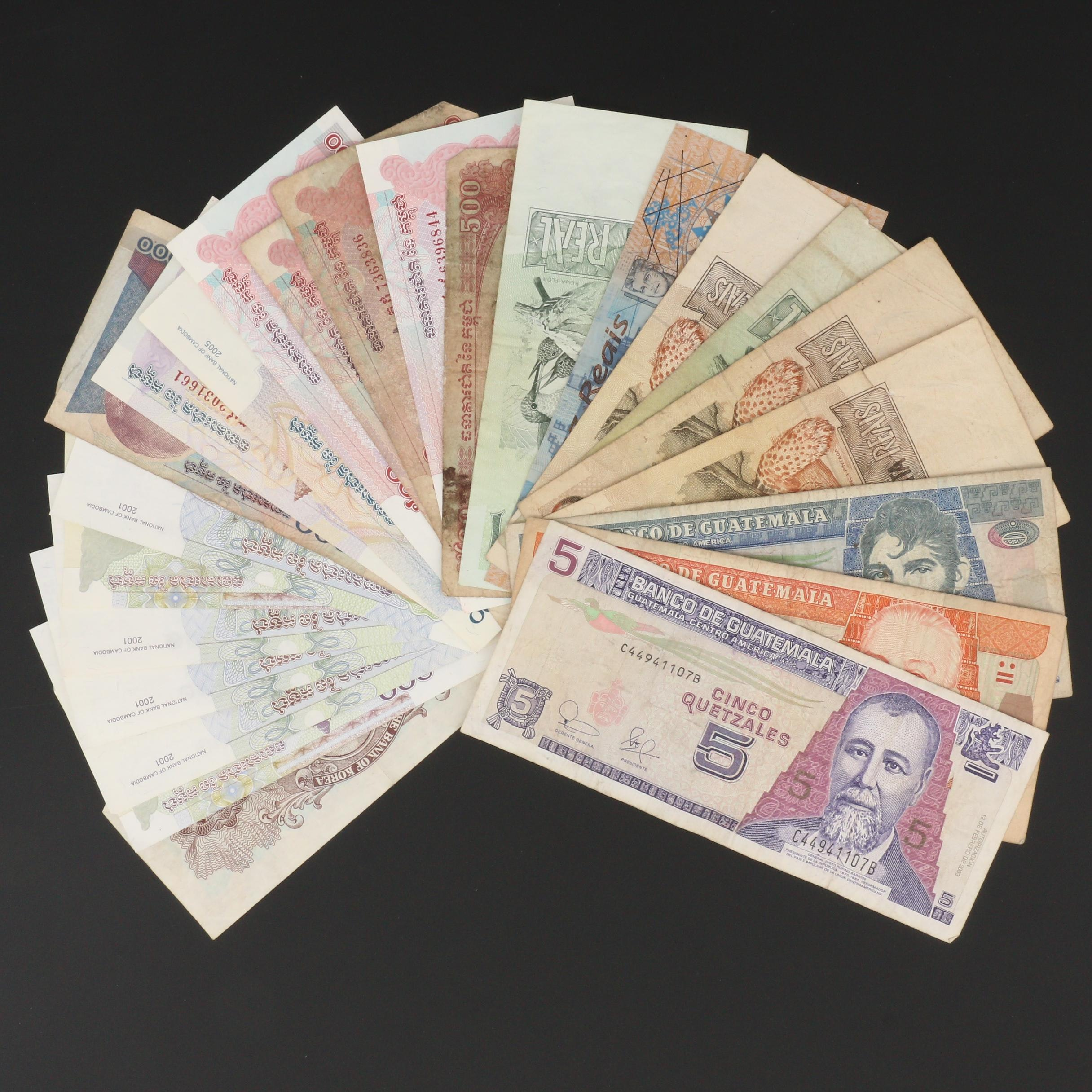 Group of Twenty-Four Foreign Banknotes