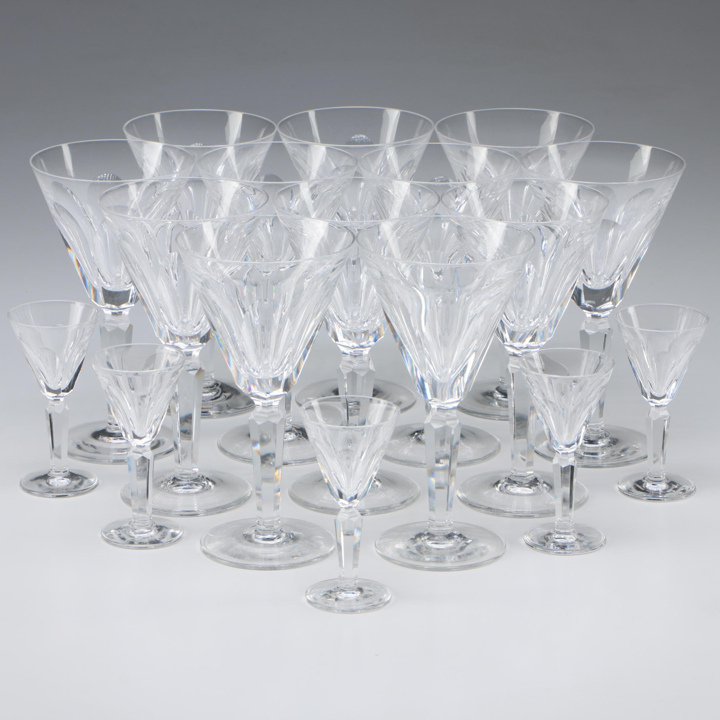 "Waterford Crystal ""Sheila"" Claret Wine and Cordial Glasses"