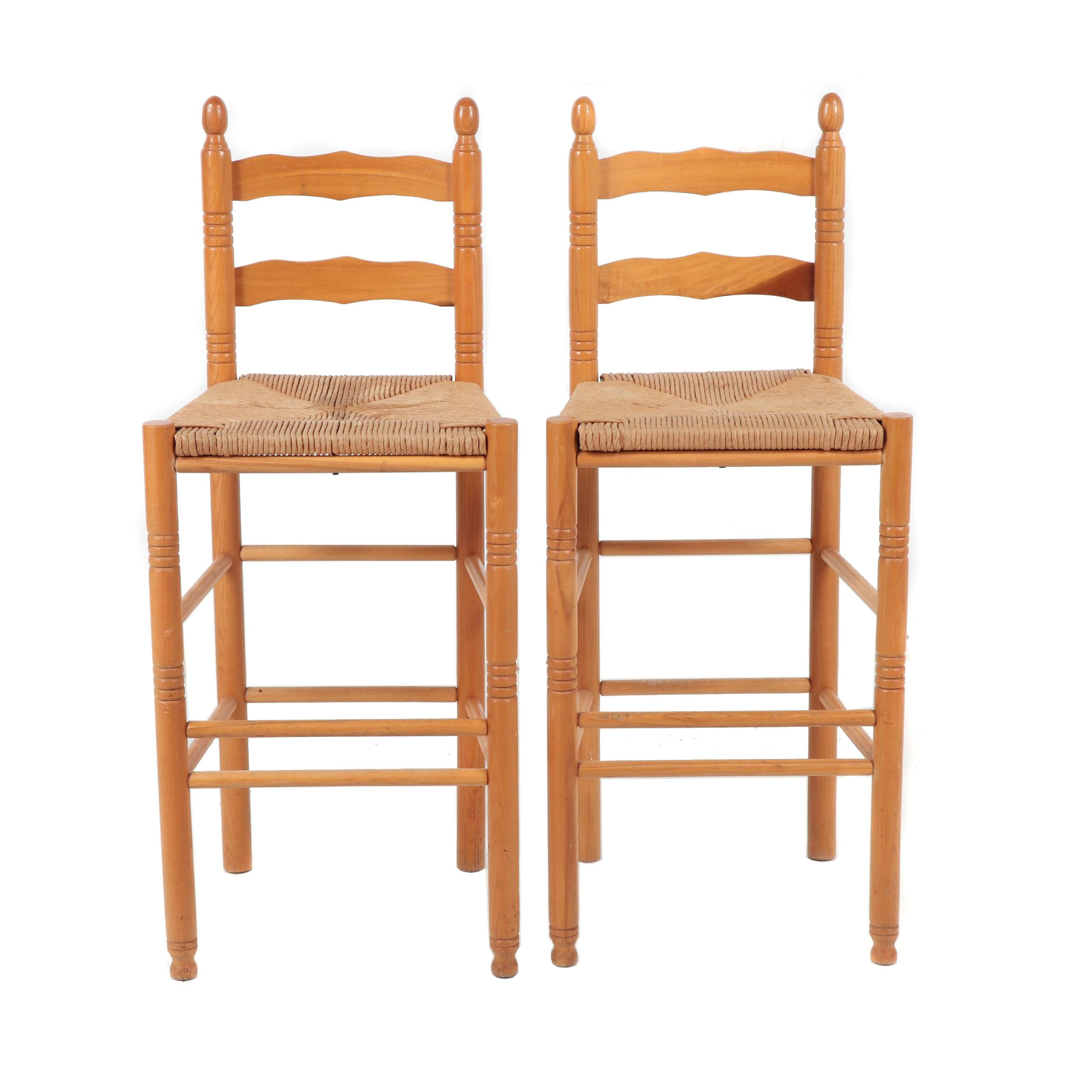 Country Style Woven Rattan Barstools