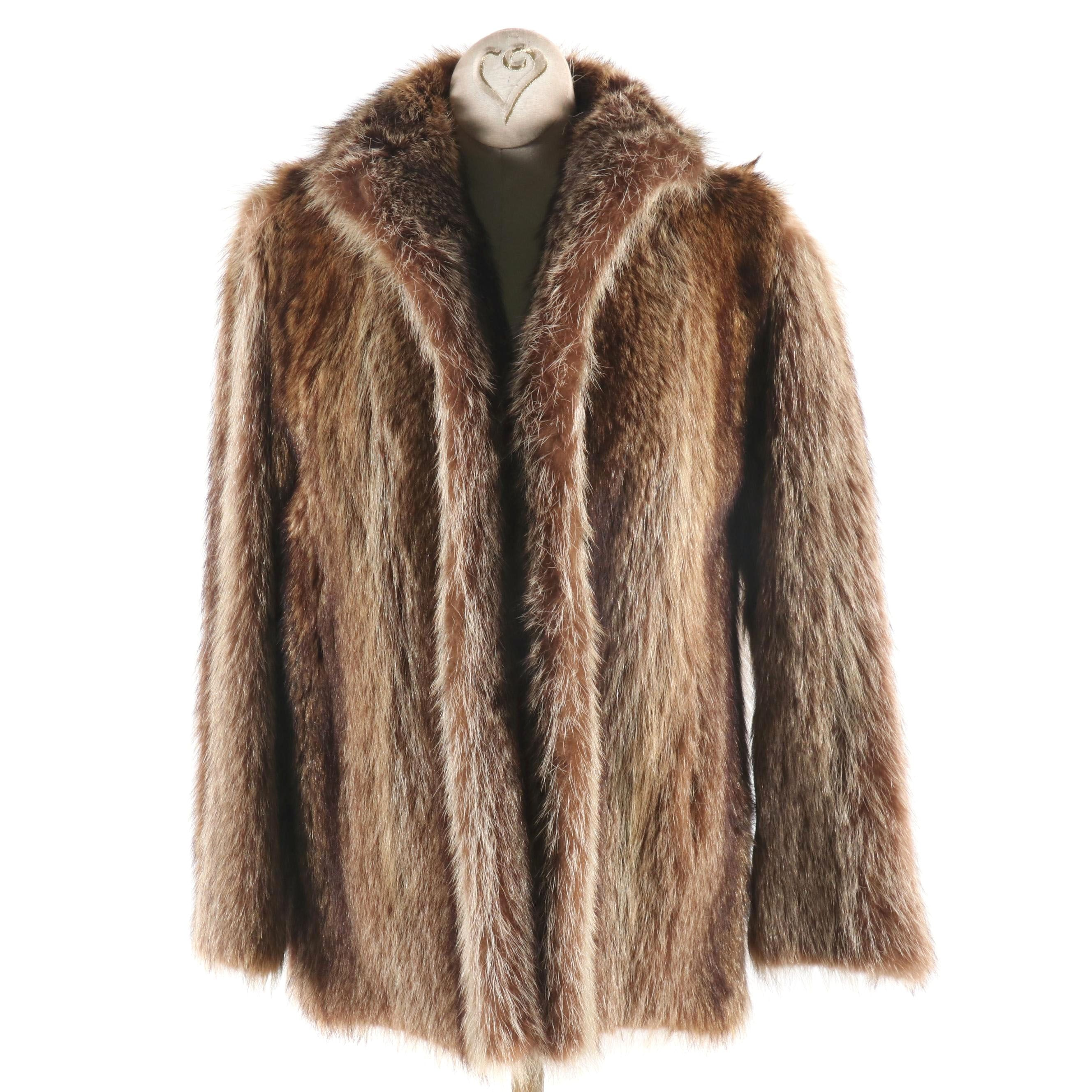 Women's Raccoon Fur Jacket