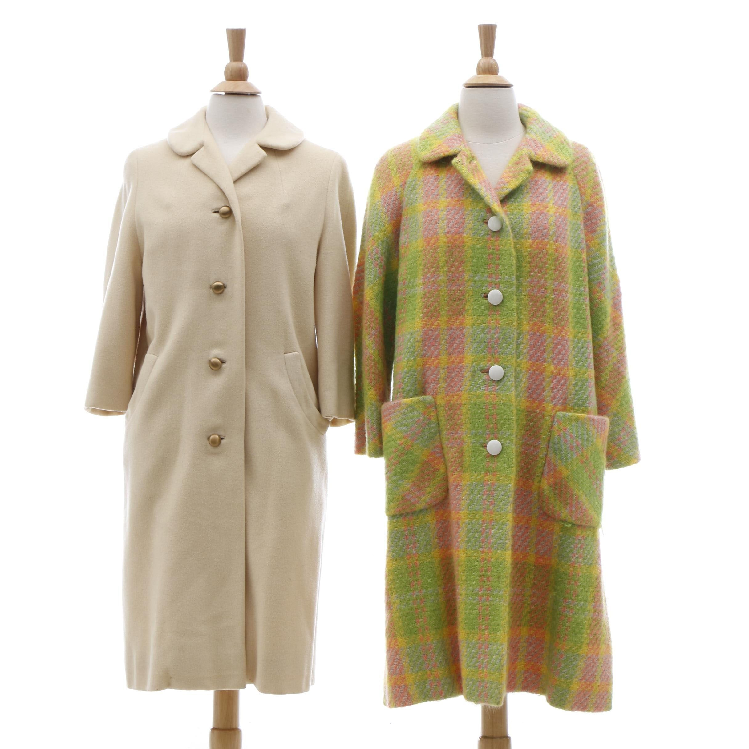 Michaelson Cashmere Blend and Pietro Neiman Marcus Tweed Coats, Vintage