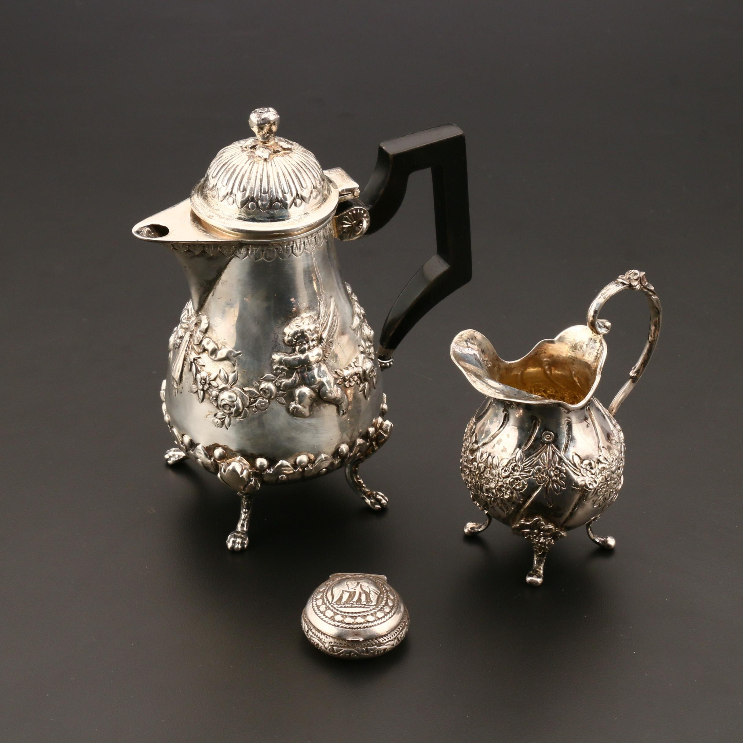 Selection of Items in 800 Silver