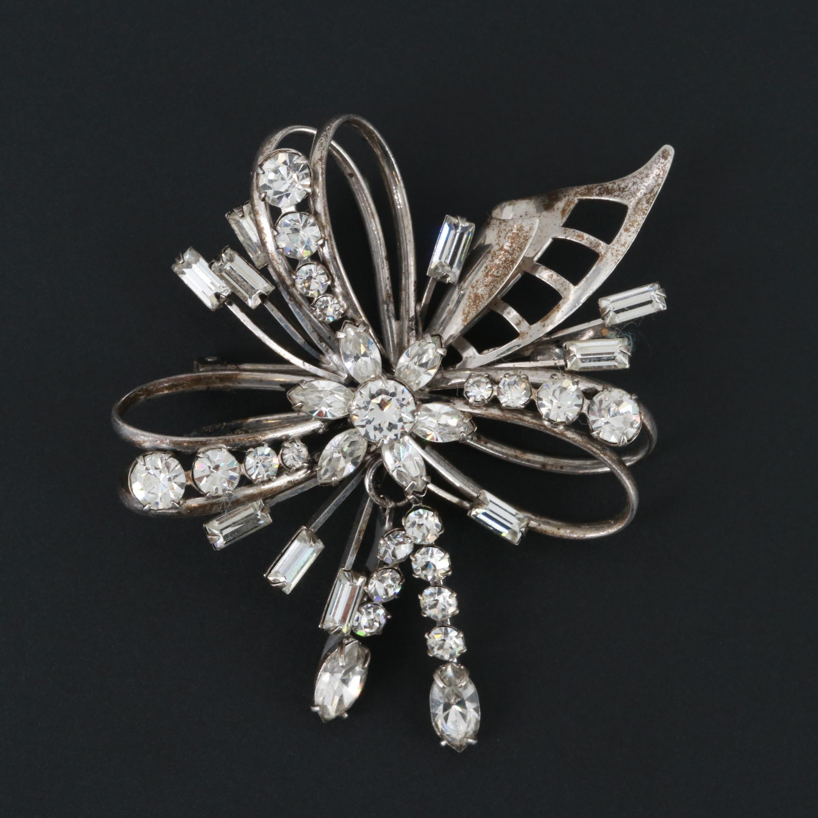Sterling Silver Glass Converter Brooch