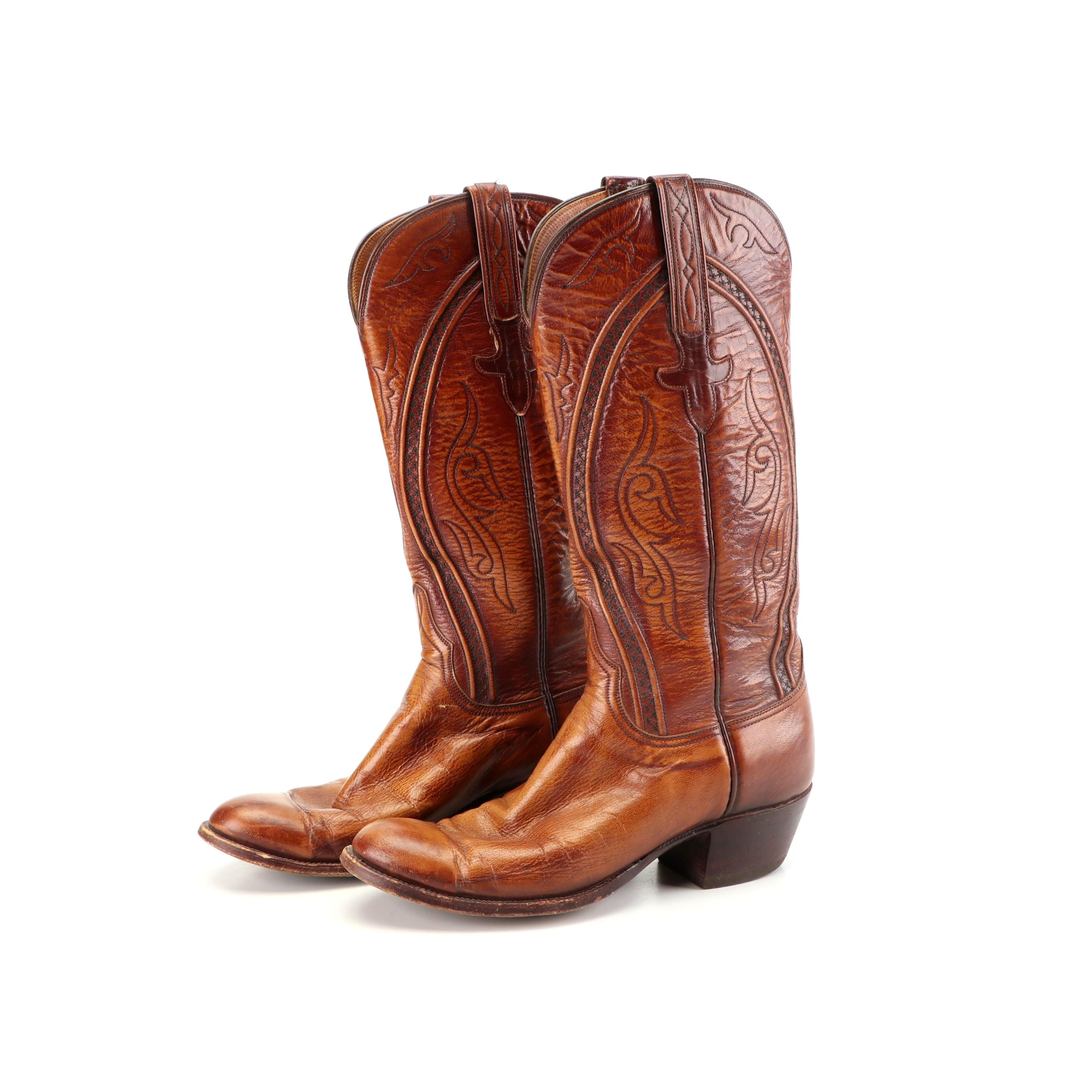 Women's Lucchese of San Antonio Leather Western Boots