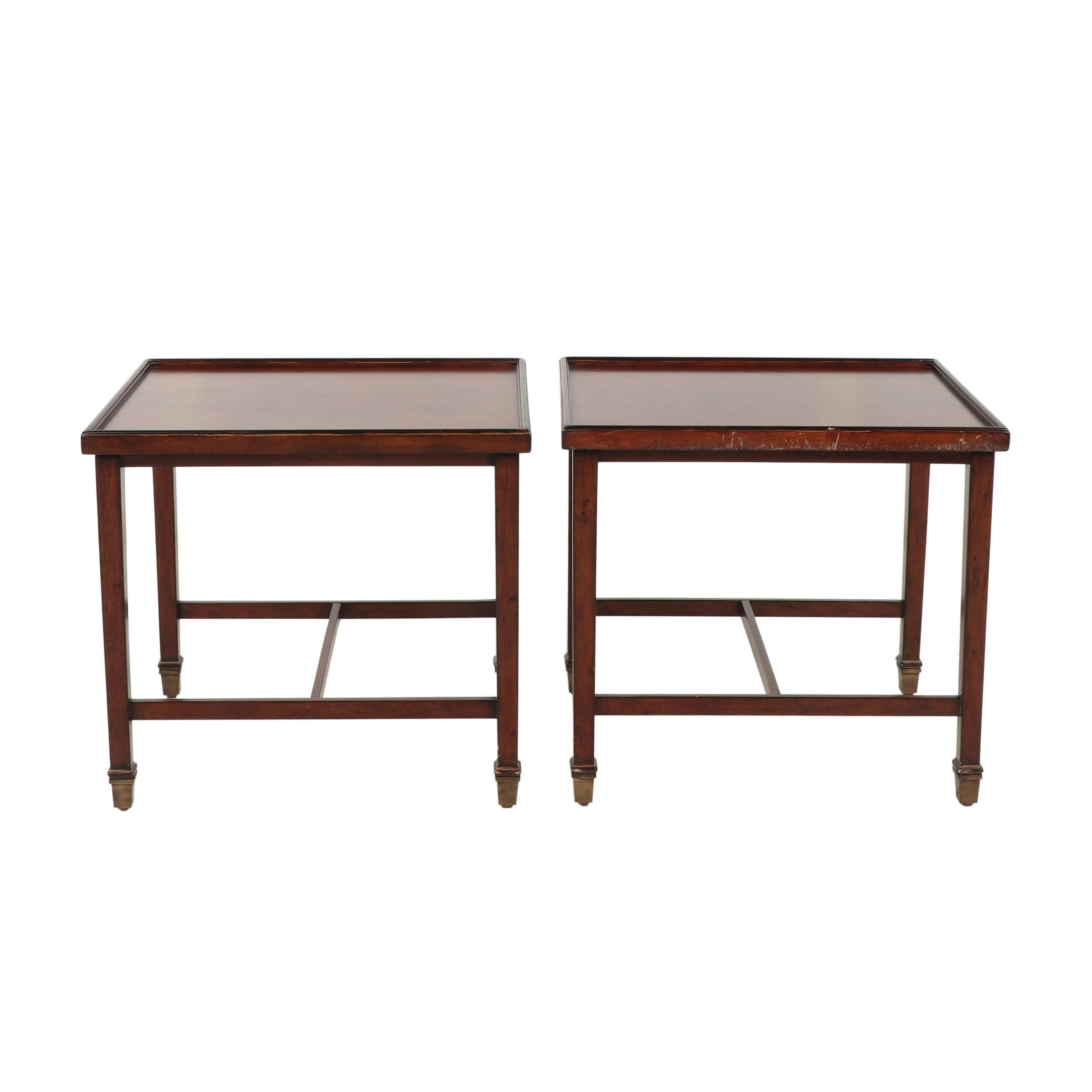 Pair of Chippendale-Style Side Tables, Late 20th Century