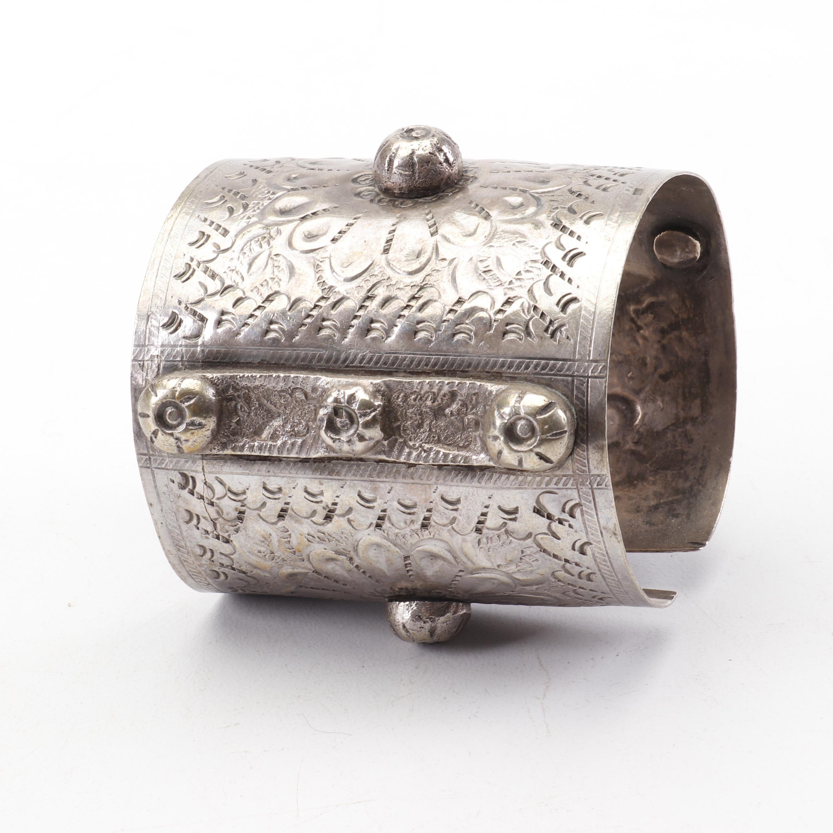 Hand-Stamped 800 Silver Cuff