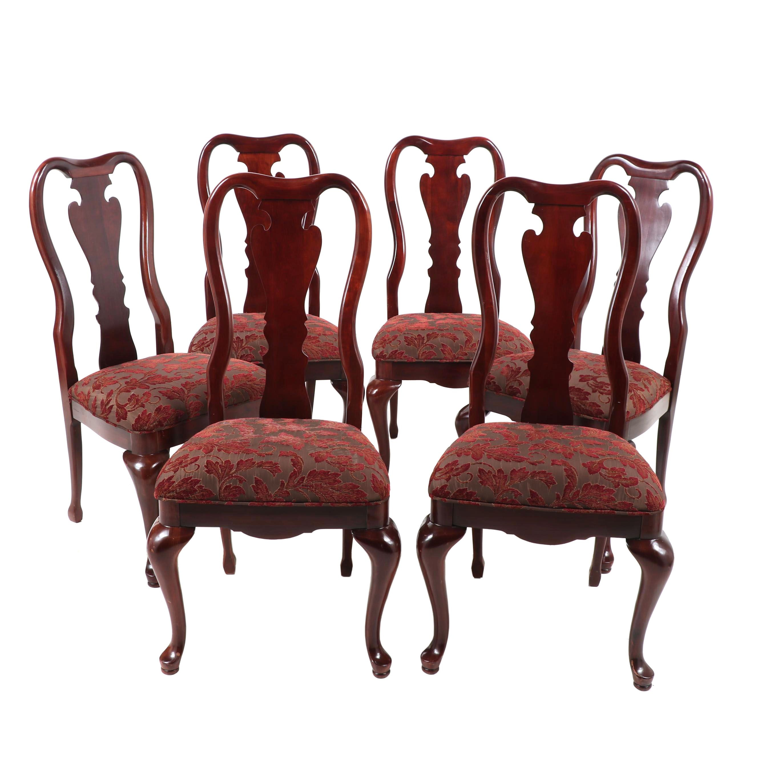 Queen Anne Style Dining Chairs, Late 20th Century