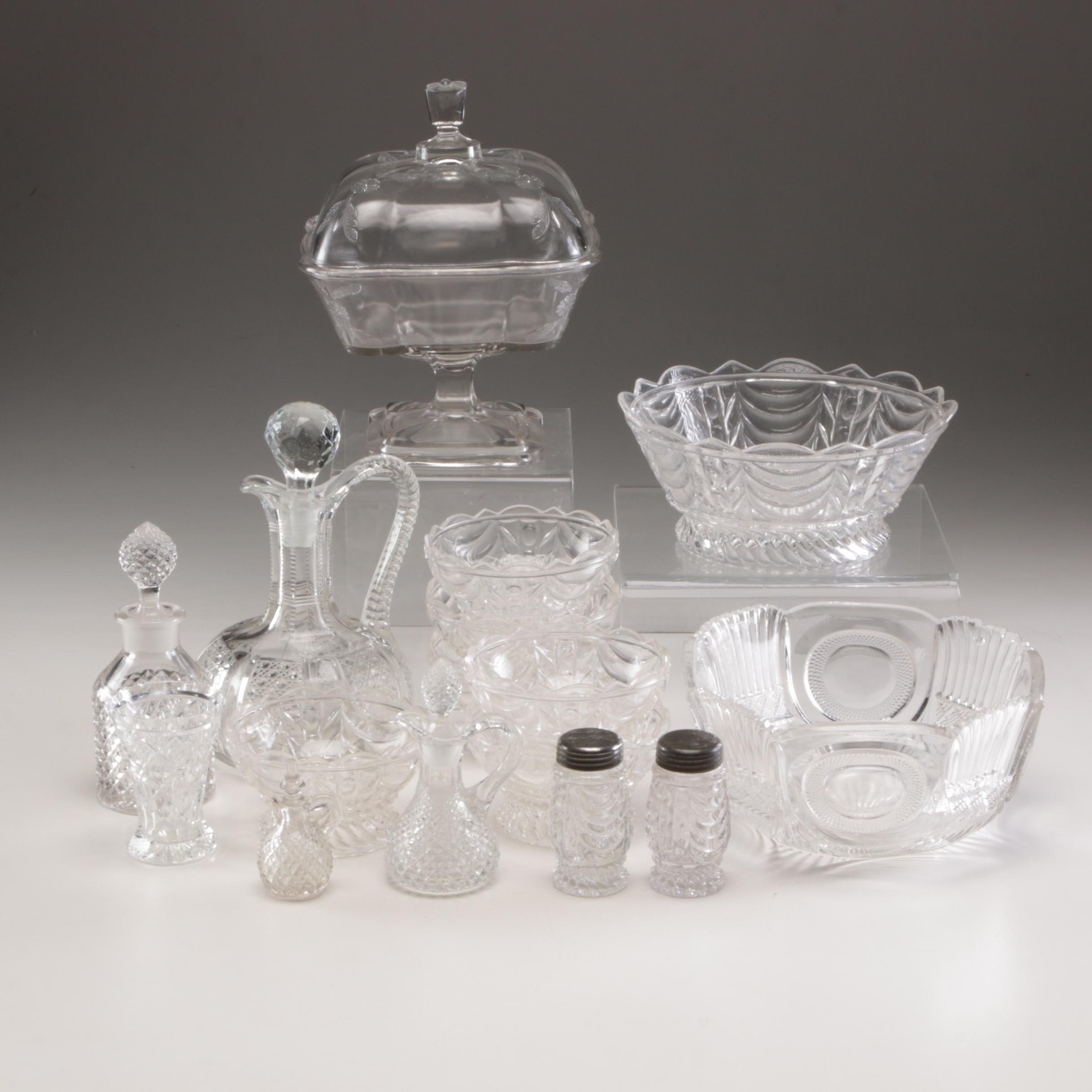 "Bryce Brothers ""Curtain"" Tableware and Other Early 20th Century Glassware"