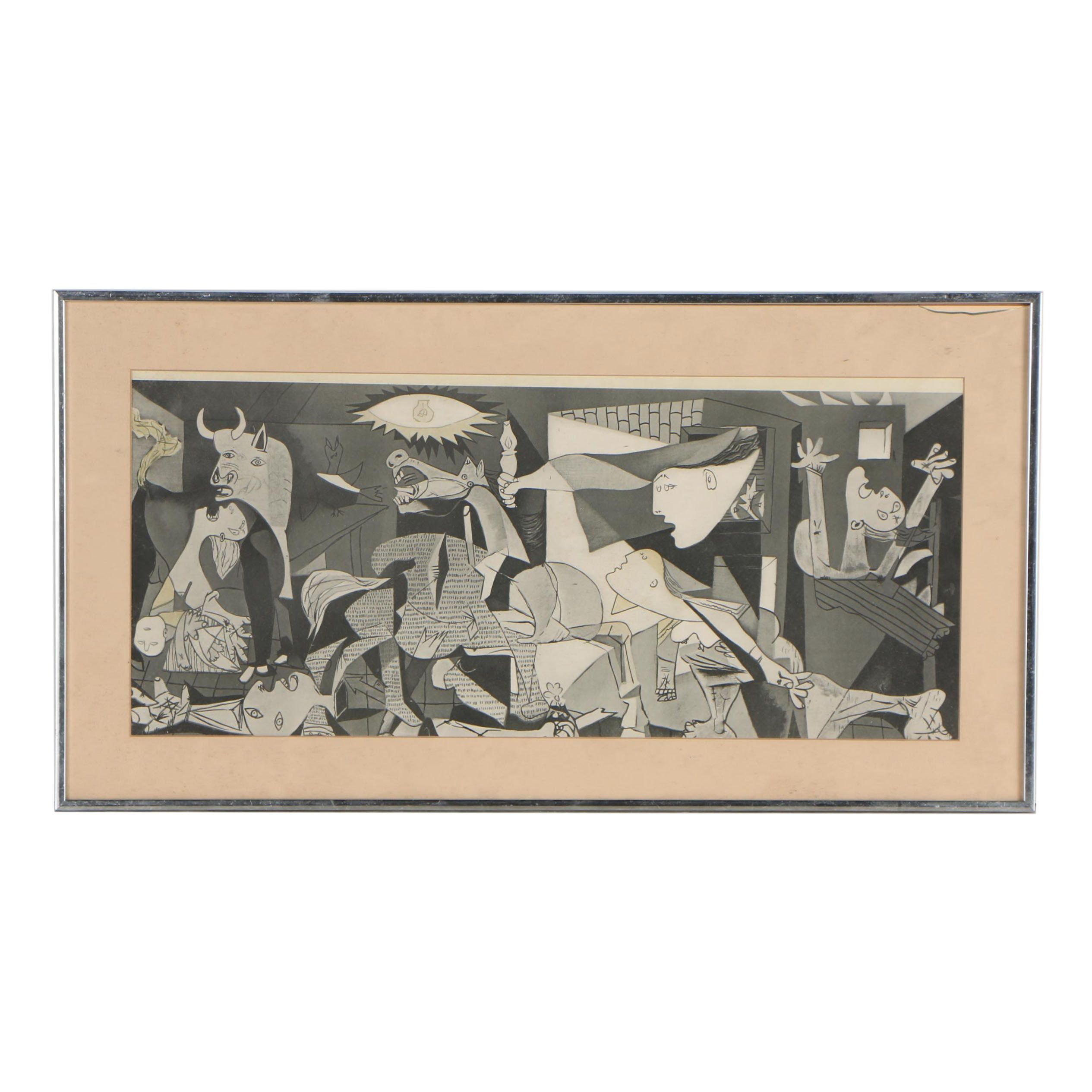 "Late 20th Century Offset Lithograph after Pablo Picasso ""Guernica"""