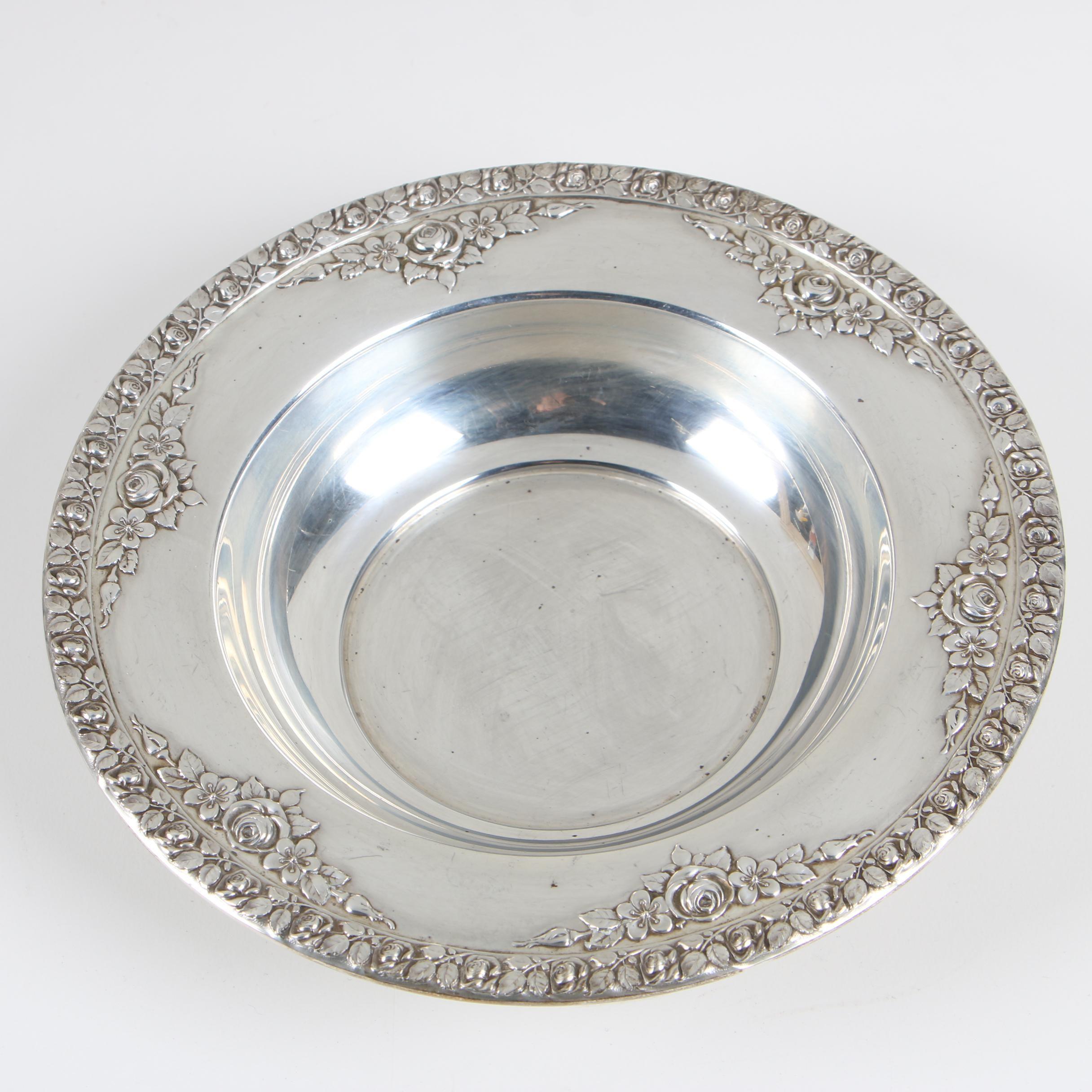 "Wallace Sterling Silver ""Normandie"" Bon Bon Bowl, Early/Mid 20th Century"