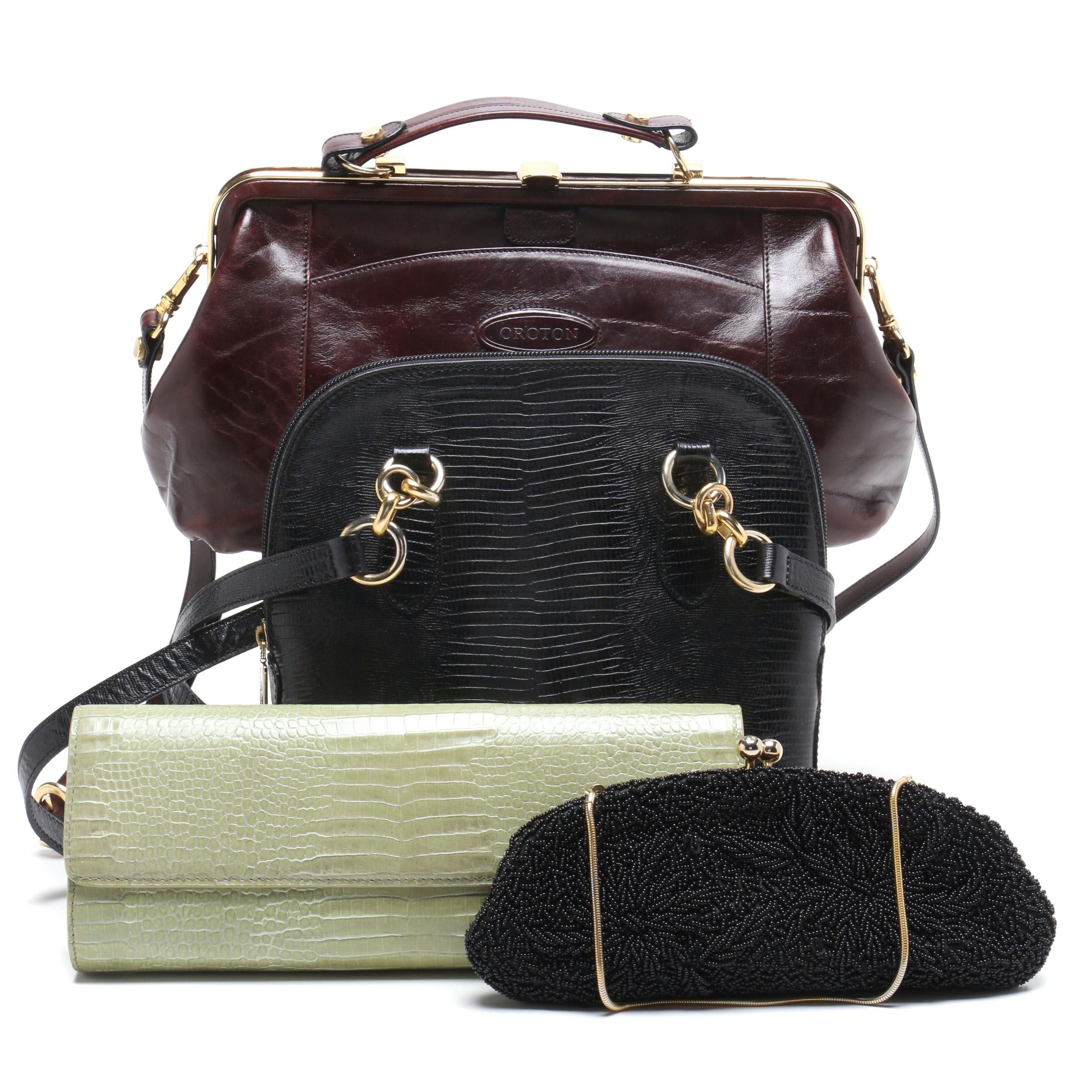 Vintage Oroton Brown Leather Satchel and Other Handbags