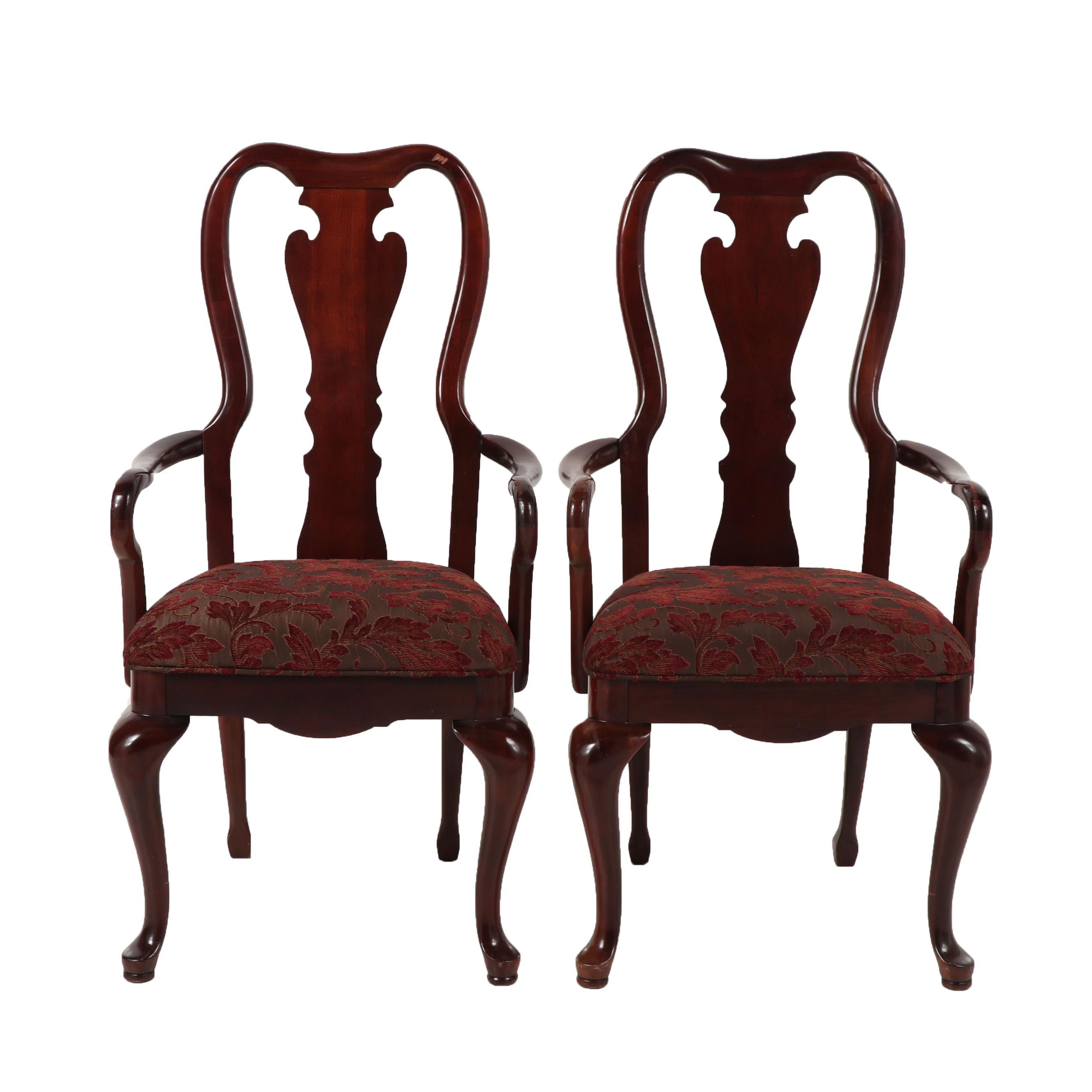 Pair of Queen Anne Style Armchairs, Late 20th Century