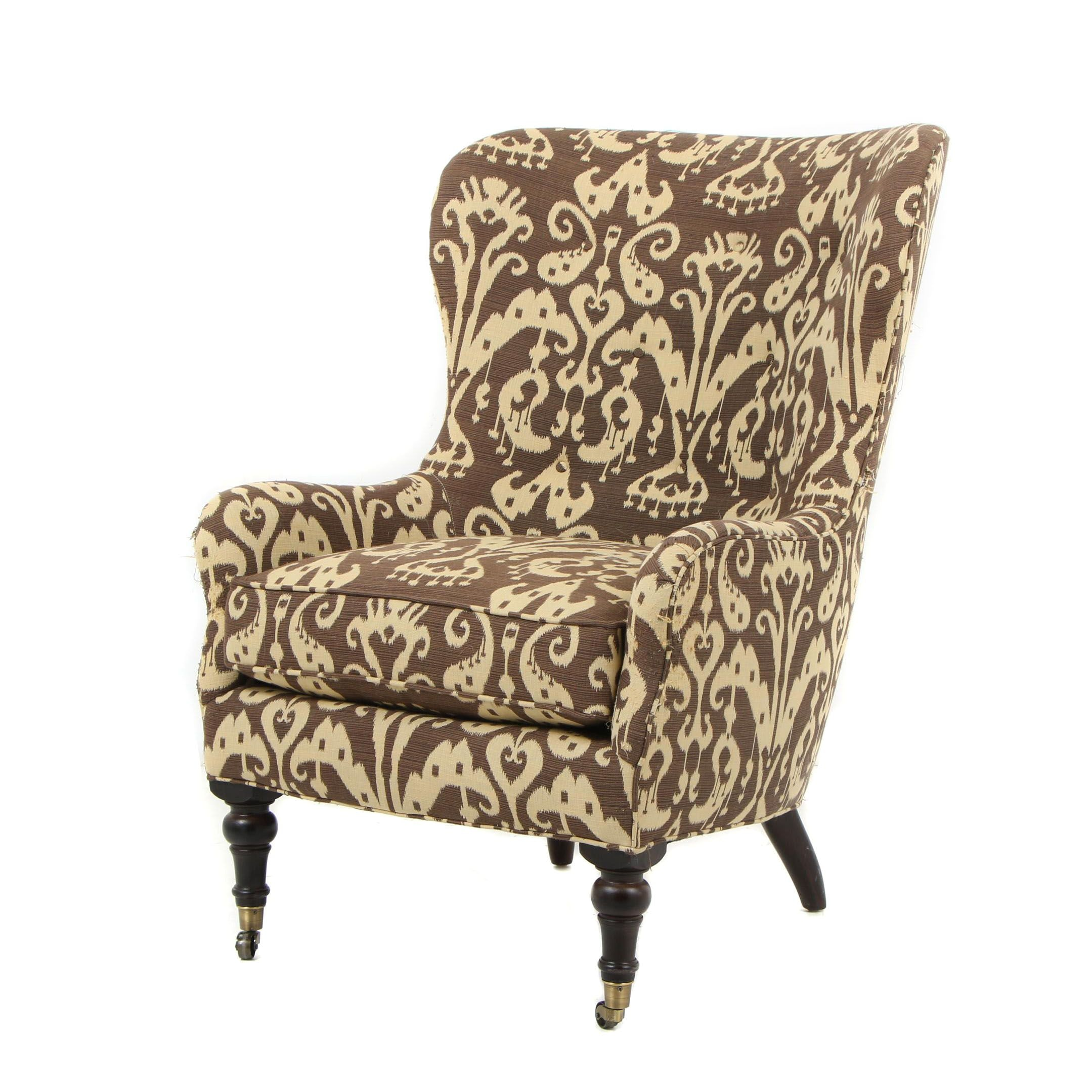 Contemporary Lee Industries Armchair With Ikat Upholstery ...