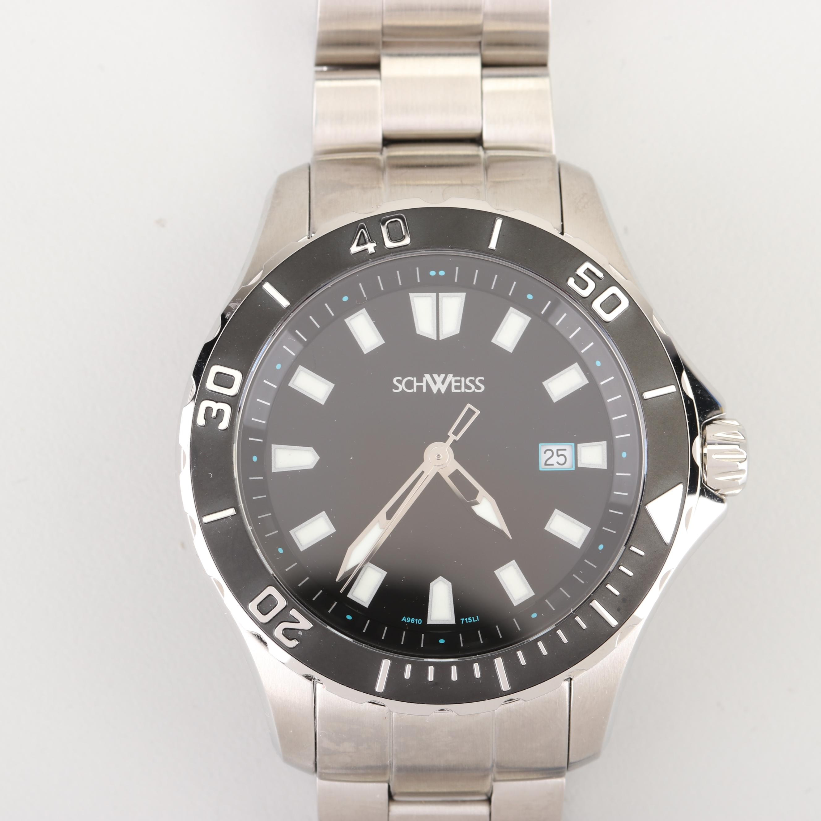 Schweiss Swiss Ceramic and Stainless Steel Wristwatch