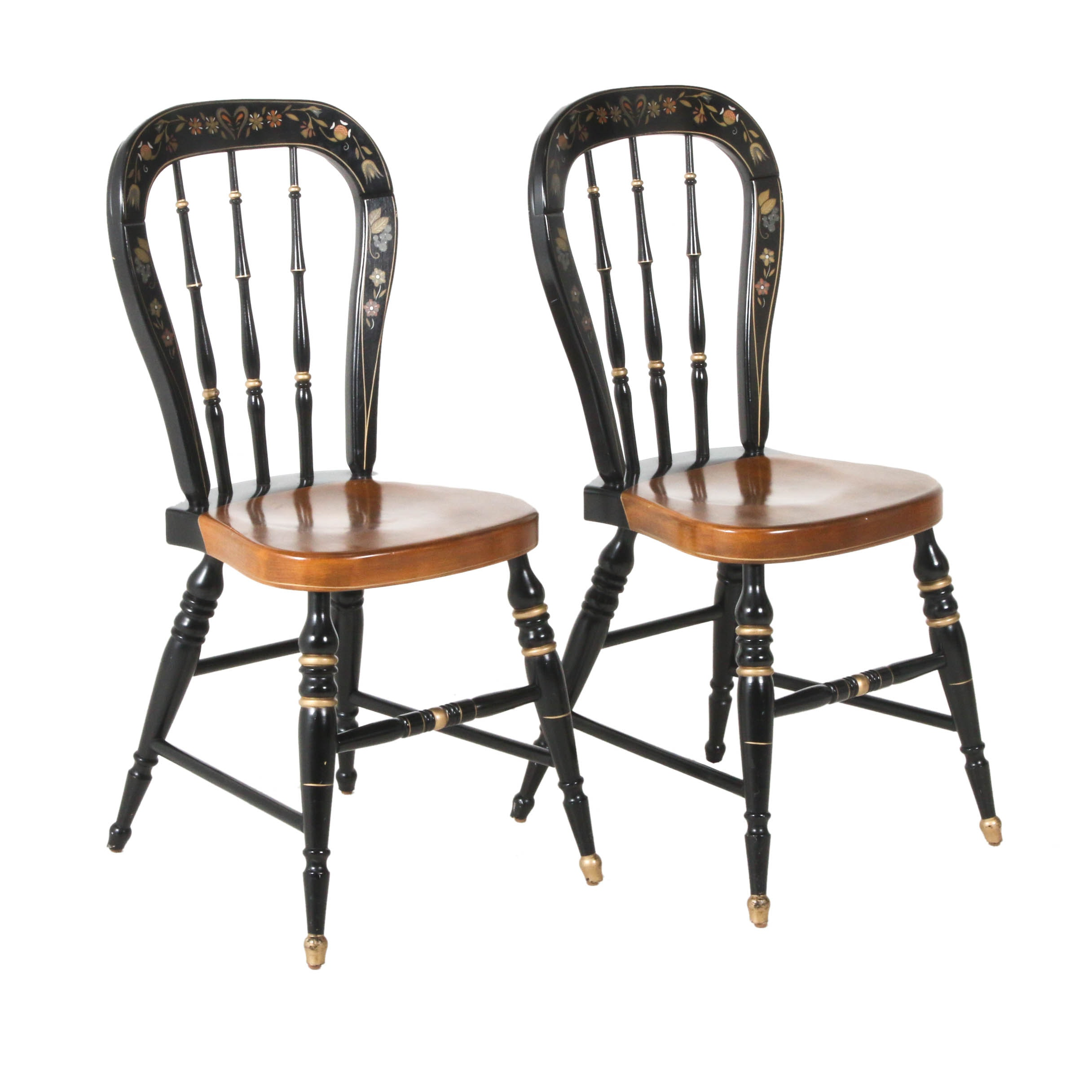 Ethan Allen Stenciled Hitchcock Chairs