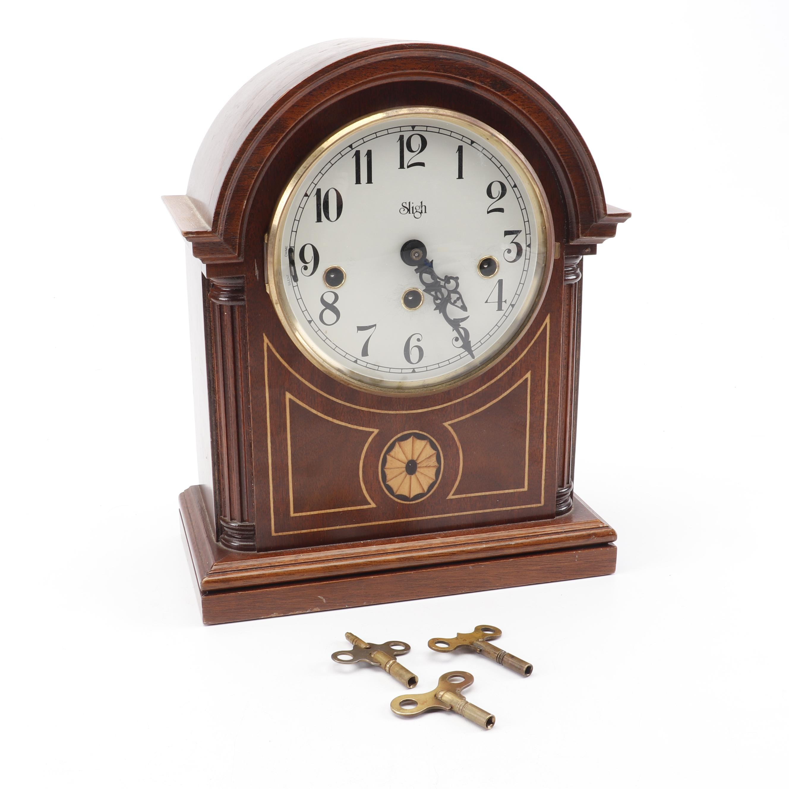 Sligh Westminster Chime Barrister Clock with Brass Hermle Movement