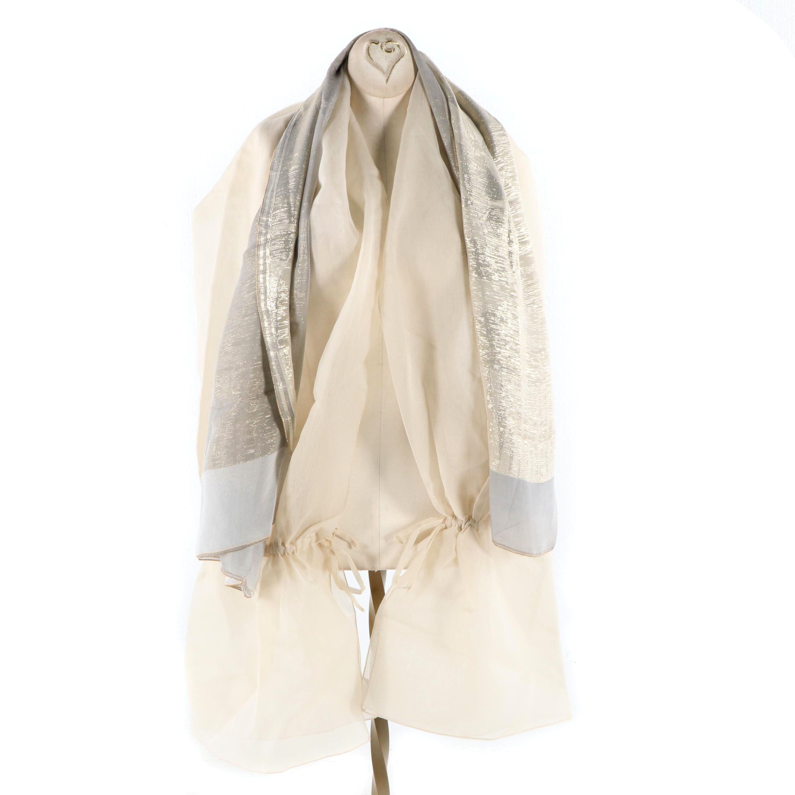 Women's Giorgio Armani Silk Scarf and Wrap