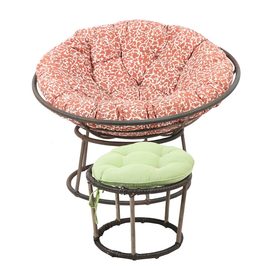 Peachy Contemporary Outdoor Papasan Chair And Ottoman Andrewgaddart Wooden Chair Designs For Living Room Andrewgaddartcom