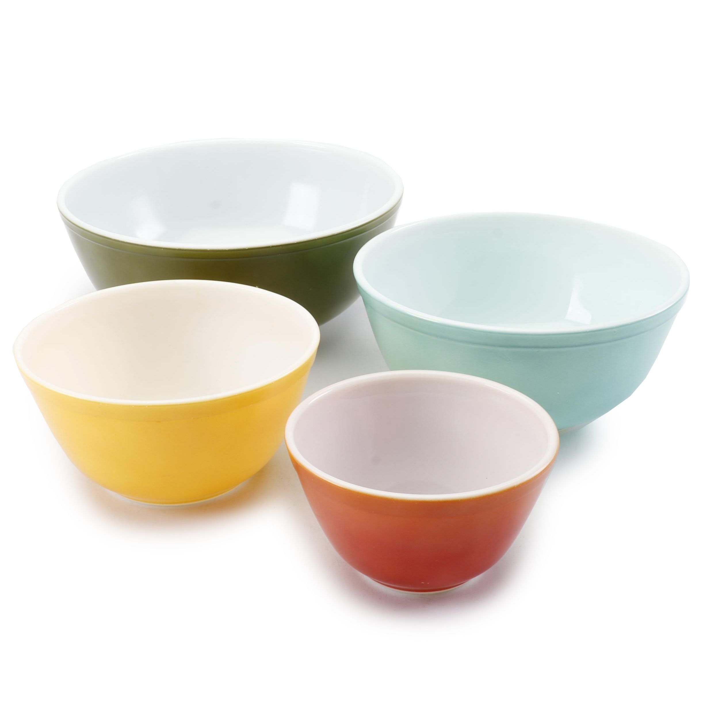 "Mid-Century Pyrex ""Primary Colors"" Mixing Bowls"