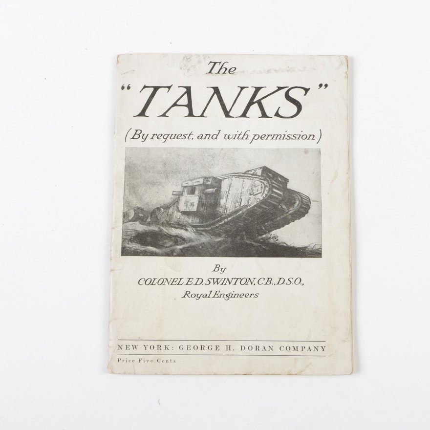 """1918 """"The 'Tanks'"""" And WWII German """"Tiger Primer"""""""