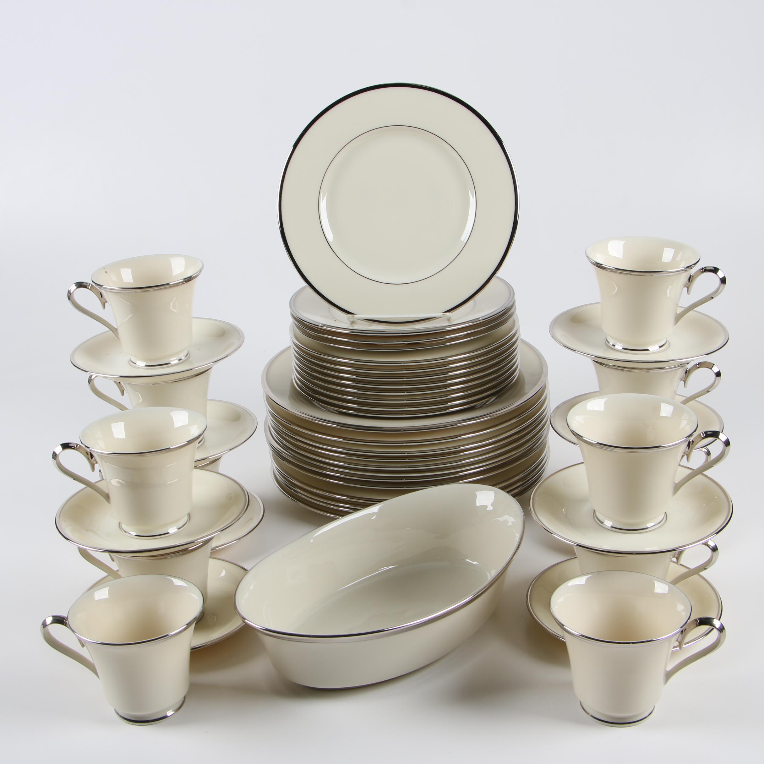 "Lenox ""Montclair"" and ""Solitaire"" Porcelain Dinnerware"