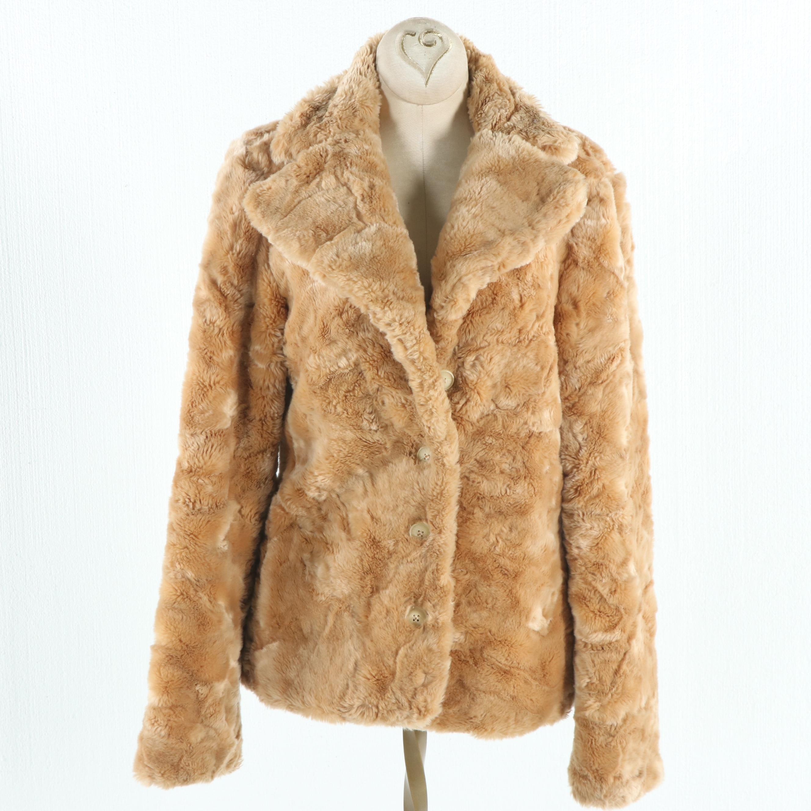 Betsey Johnson New York Faux Fur Coat