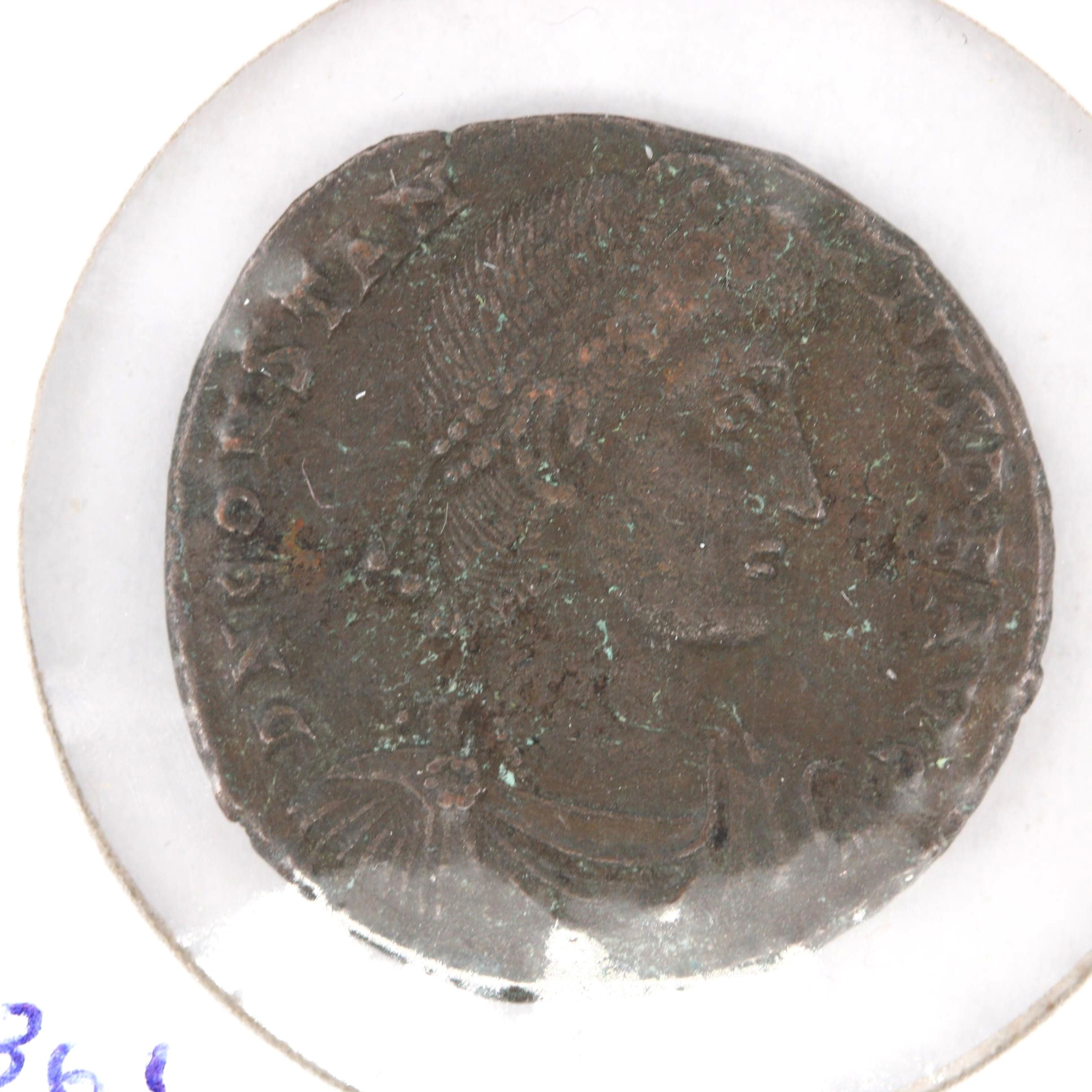 Ancient Roman Constantius II AE22 Copper Coin, Ca. 337-361 AD
