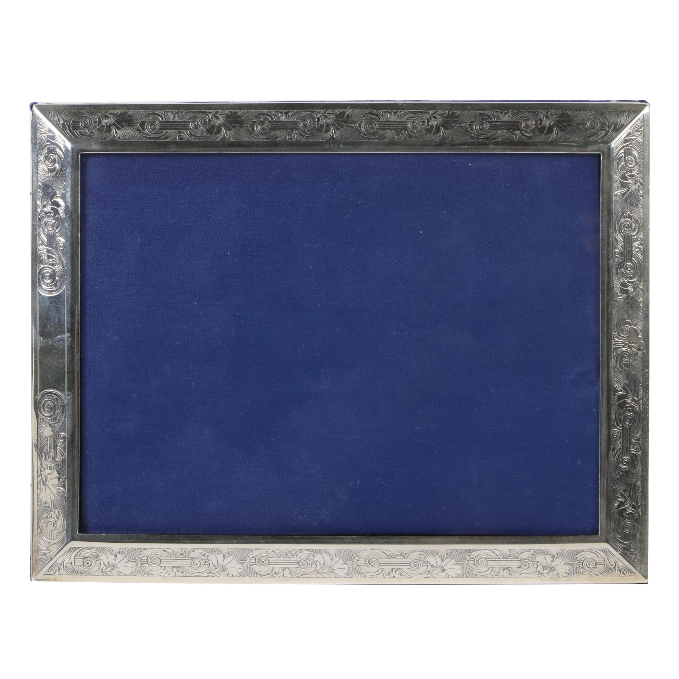 William B. Kerr & Co. Sterling Silver Picture Frame, Early 20th Century